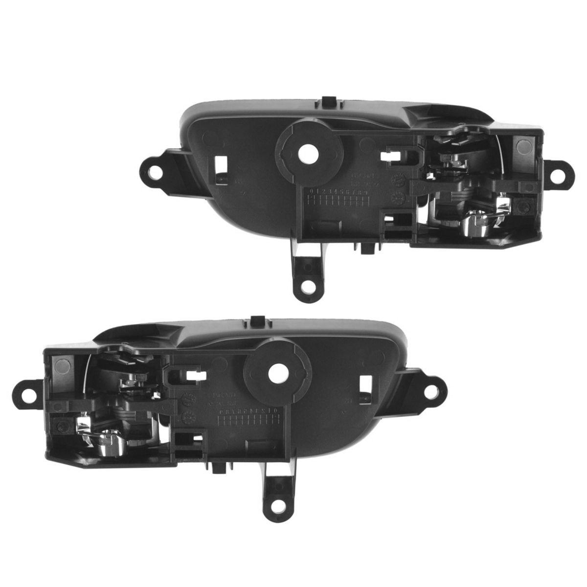 OEM Inside Interior Door Handle Black & Chrome LH & RH Pair for Nissan Truck New