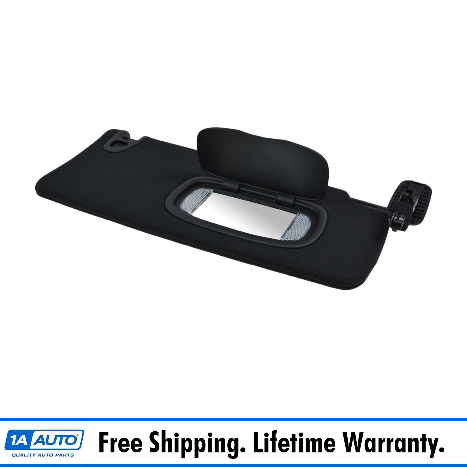 Oem sun visor with lighted mirror black passenger side for Mirror visor