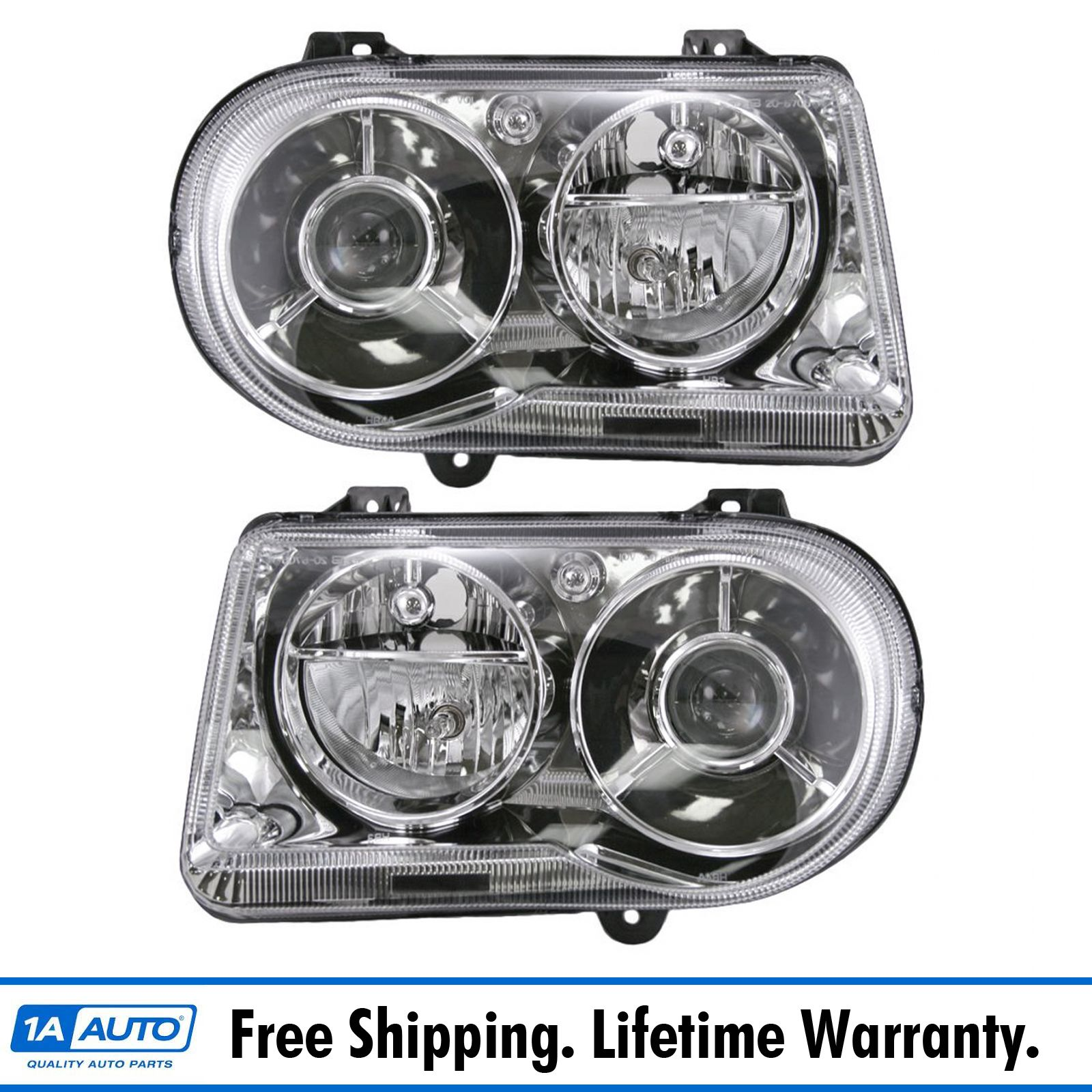 05 06 07 08 09 10 Chrysler 300C Headlight Headlamp Pair
