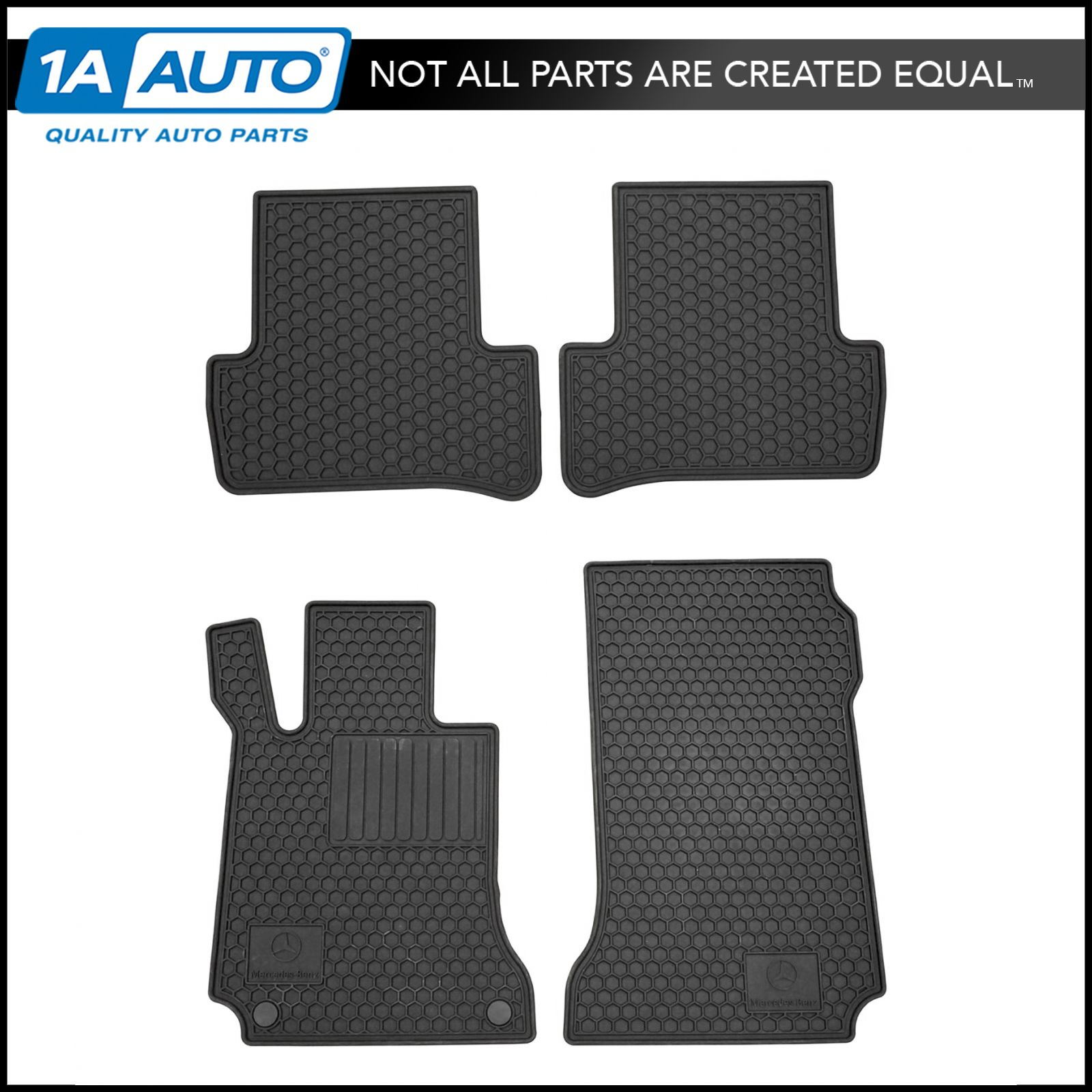 mercedes benz q6680665 floor mats black rubber set of 4 for c250 c300. Cars Review. Best American Auto & Cars Review