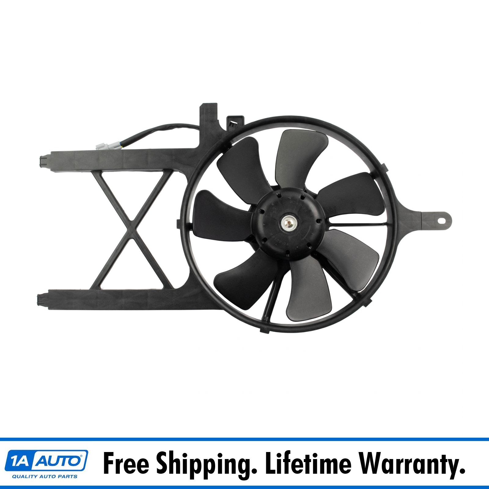 NI3120102 OE Style AC Condenser Cooling Fan Assembly Replacement for Frontier Xterra 2.5L 4.0L 05-18