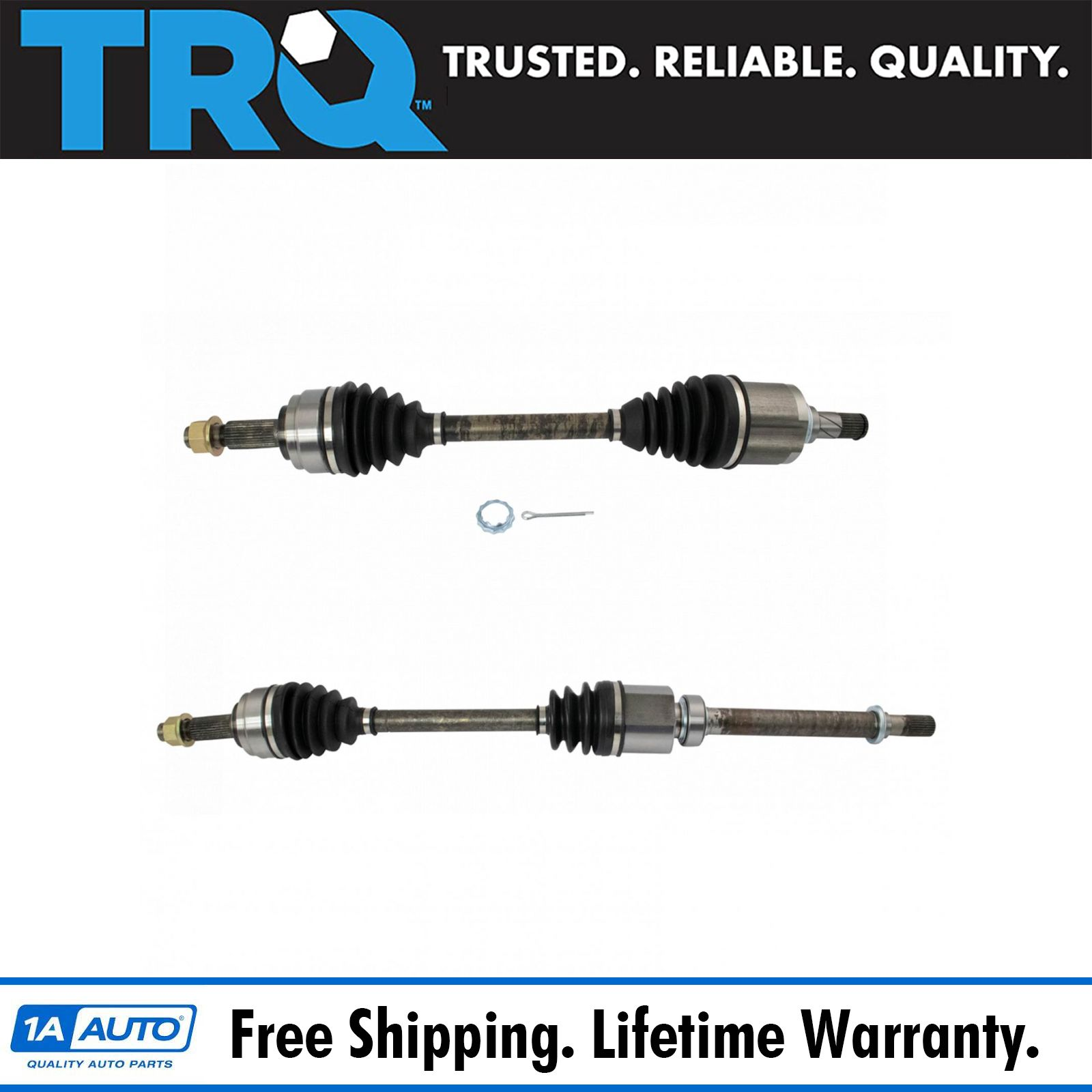TRQ New Front CV Axle Shaft Assembly LH RH Pair 2pc for Sonata 2.4L Auto