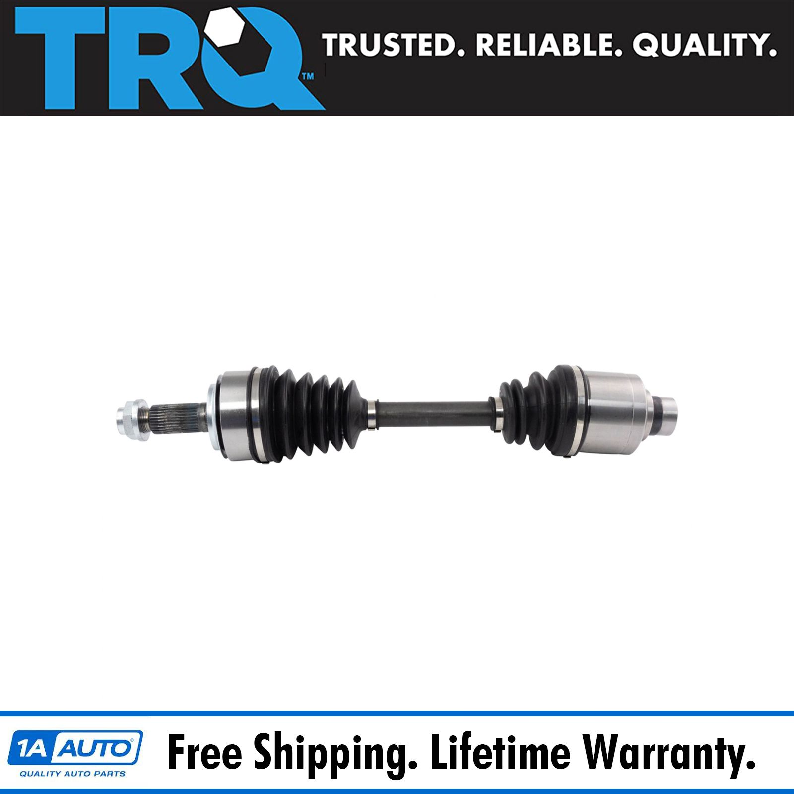 TRQ Front Complete CV Axle Shaft Assembly Passenger Side