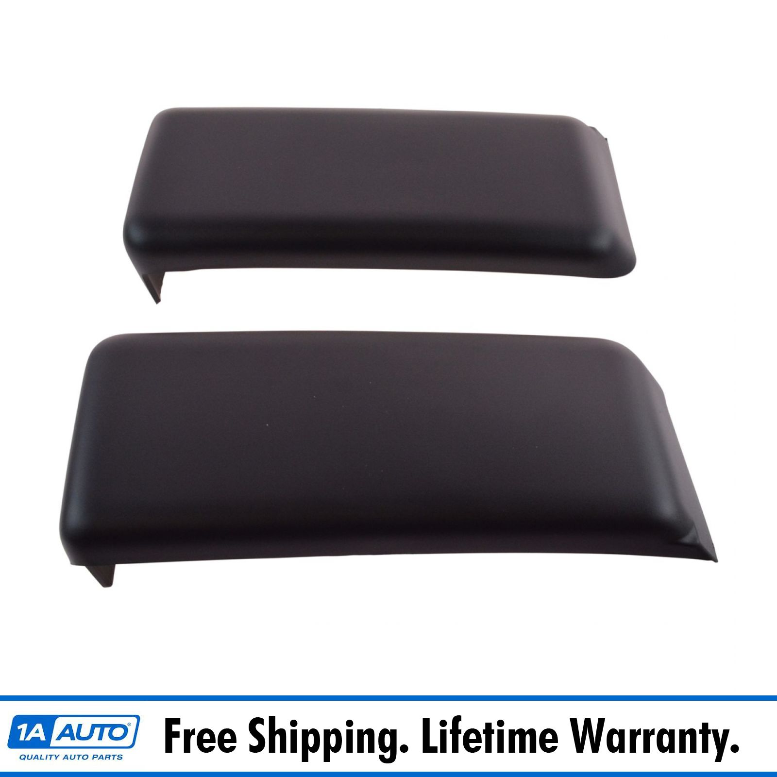 Front Bumper Pad Guard Insert Pair LH /& RH Sides Textured Black for Ford F150