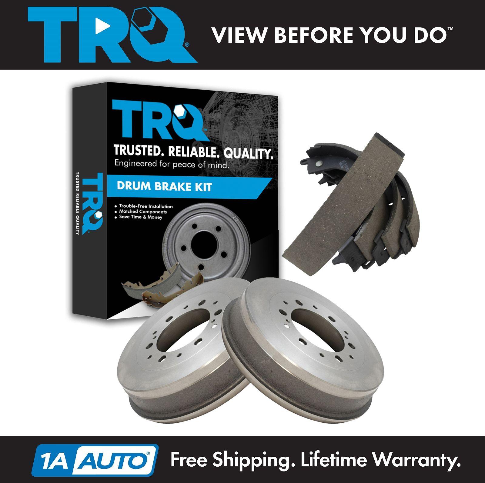 TRQ Brake Drum /& Shoe Kit Rear Set for 05-14 Toyota Tacoma