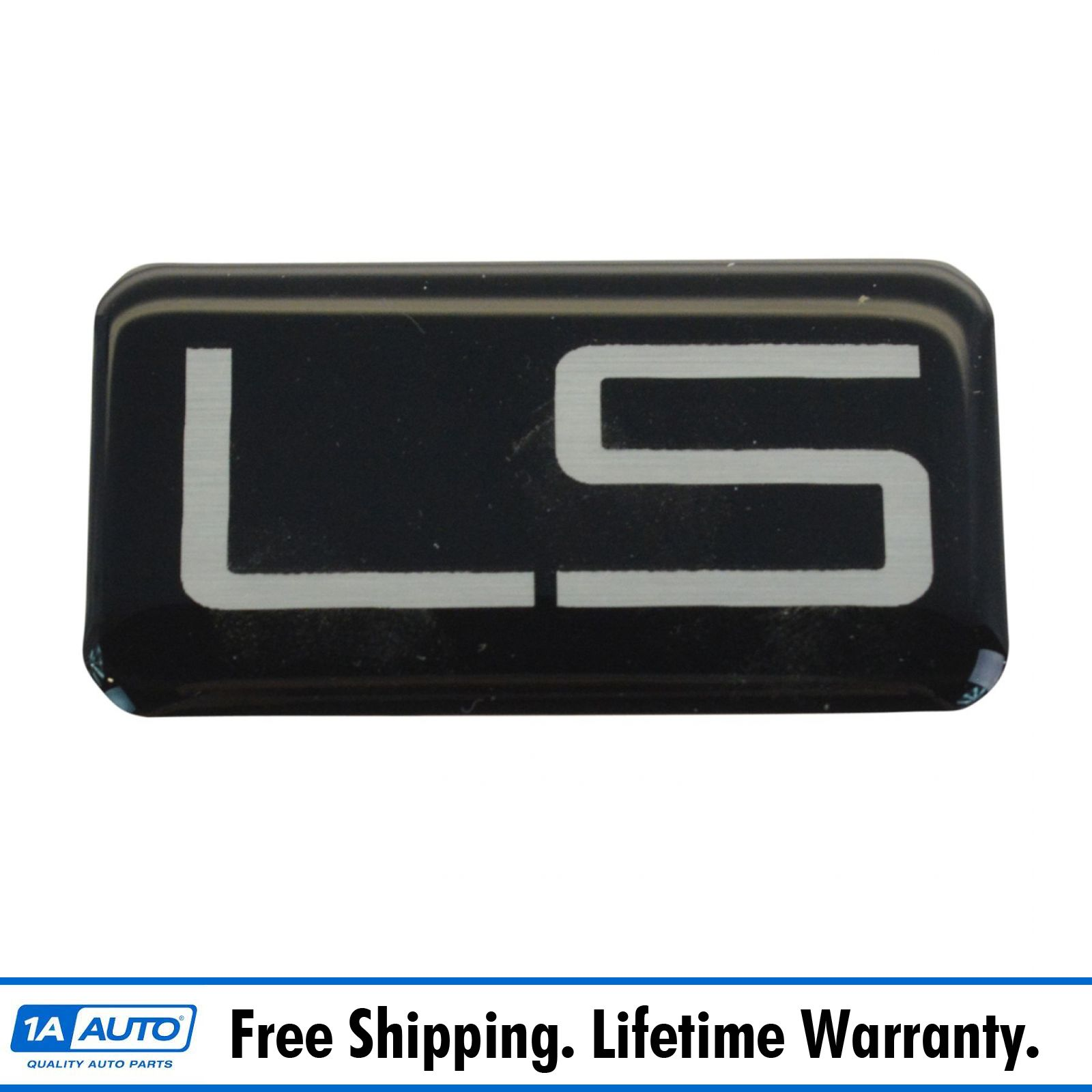 OEM 15678961 LS Nameplate Emblem Black /& Silver for Chevy Pickup Truck SUV New