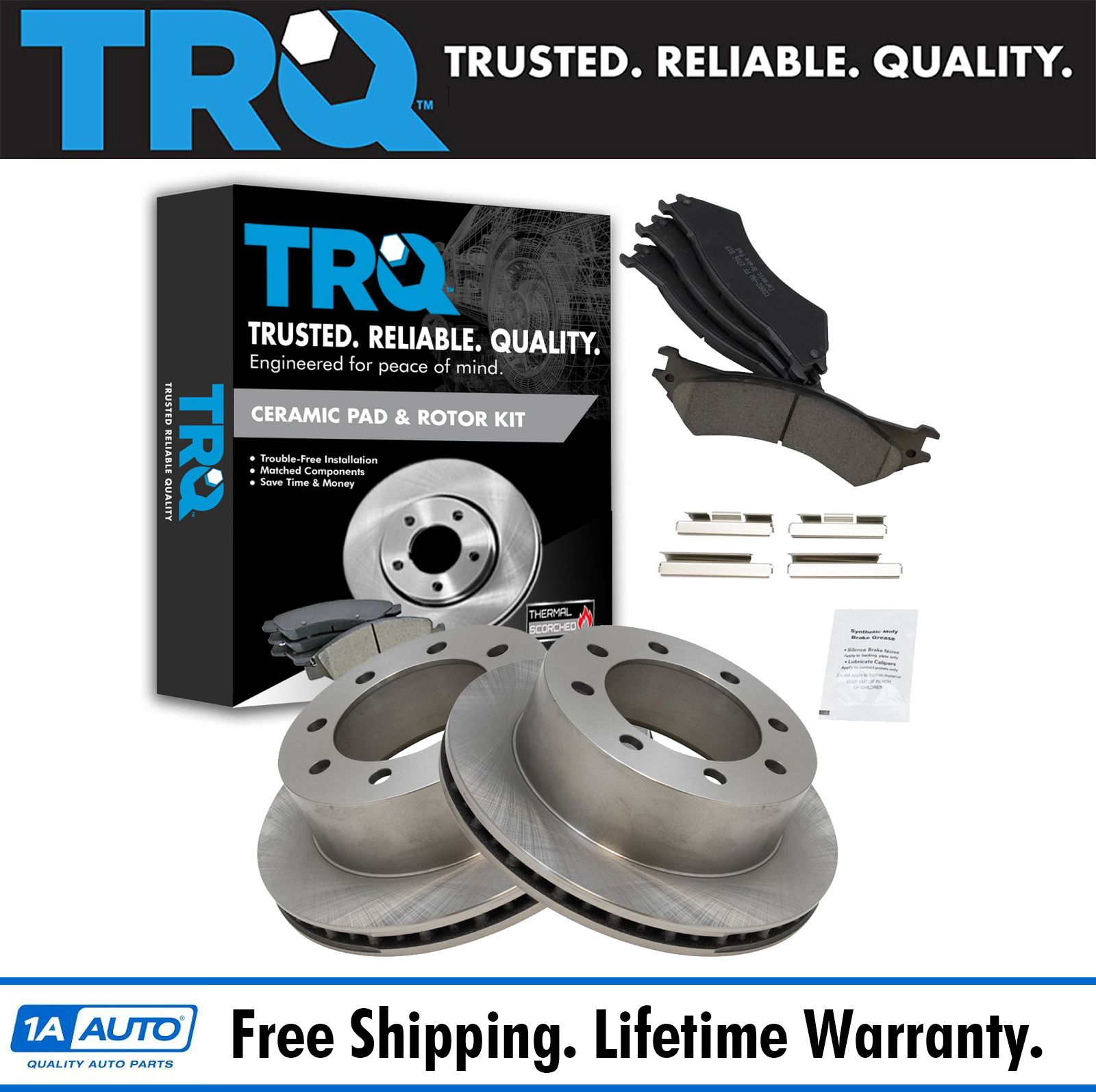 Rear Disc Brake Pad /& Rotor Kit Set for 99-07 Econoline New