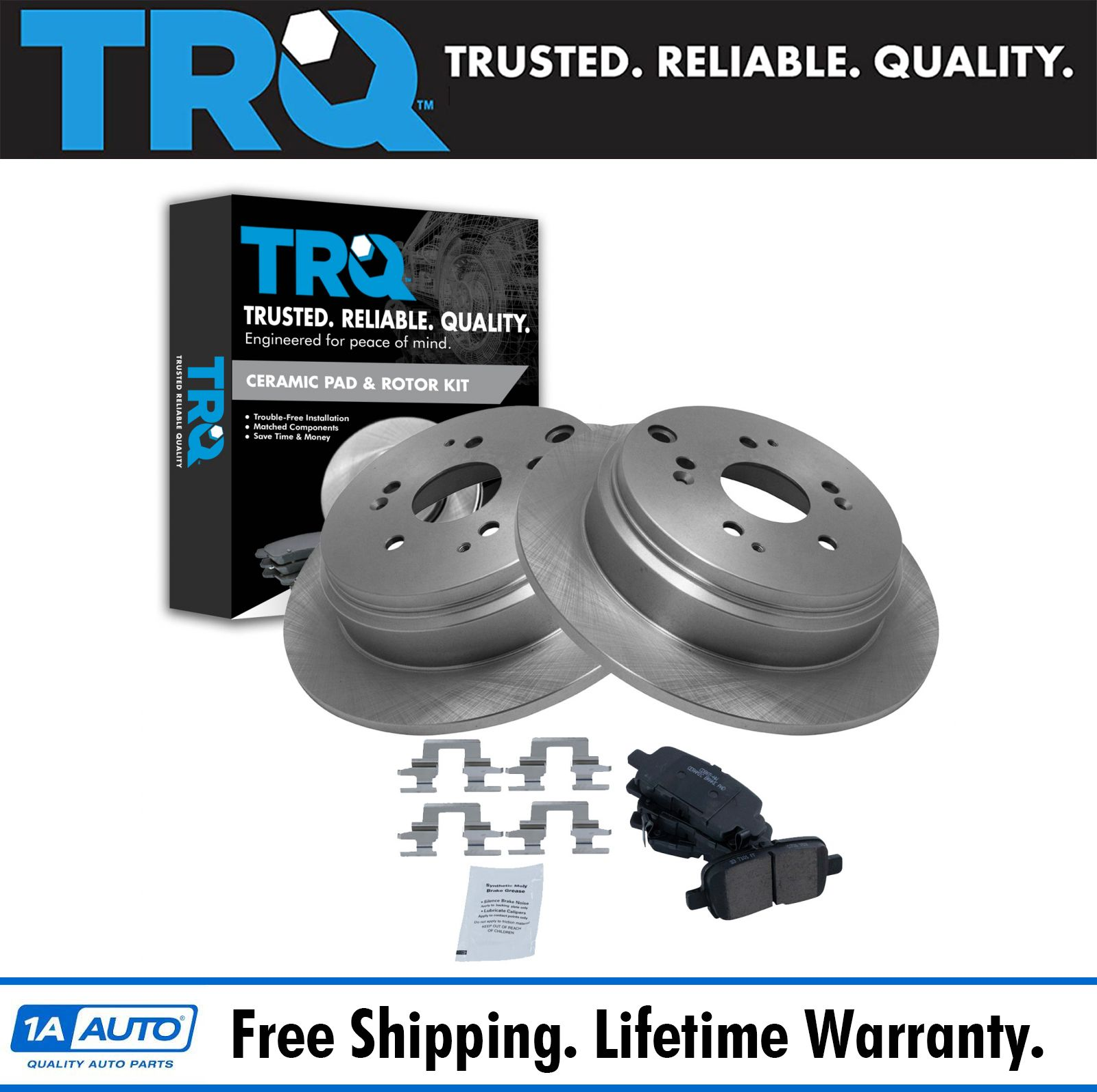 Rear Disc Brake Pad /& Rotor Kit for 02-04 Honda Odyssey