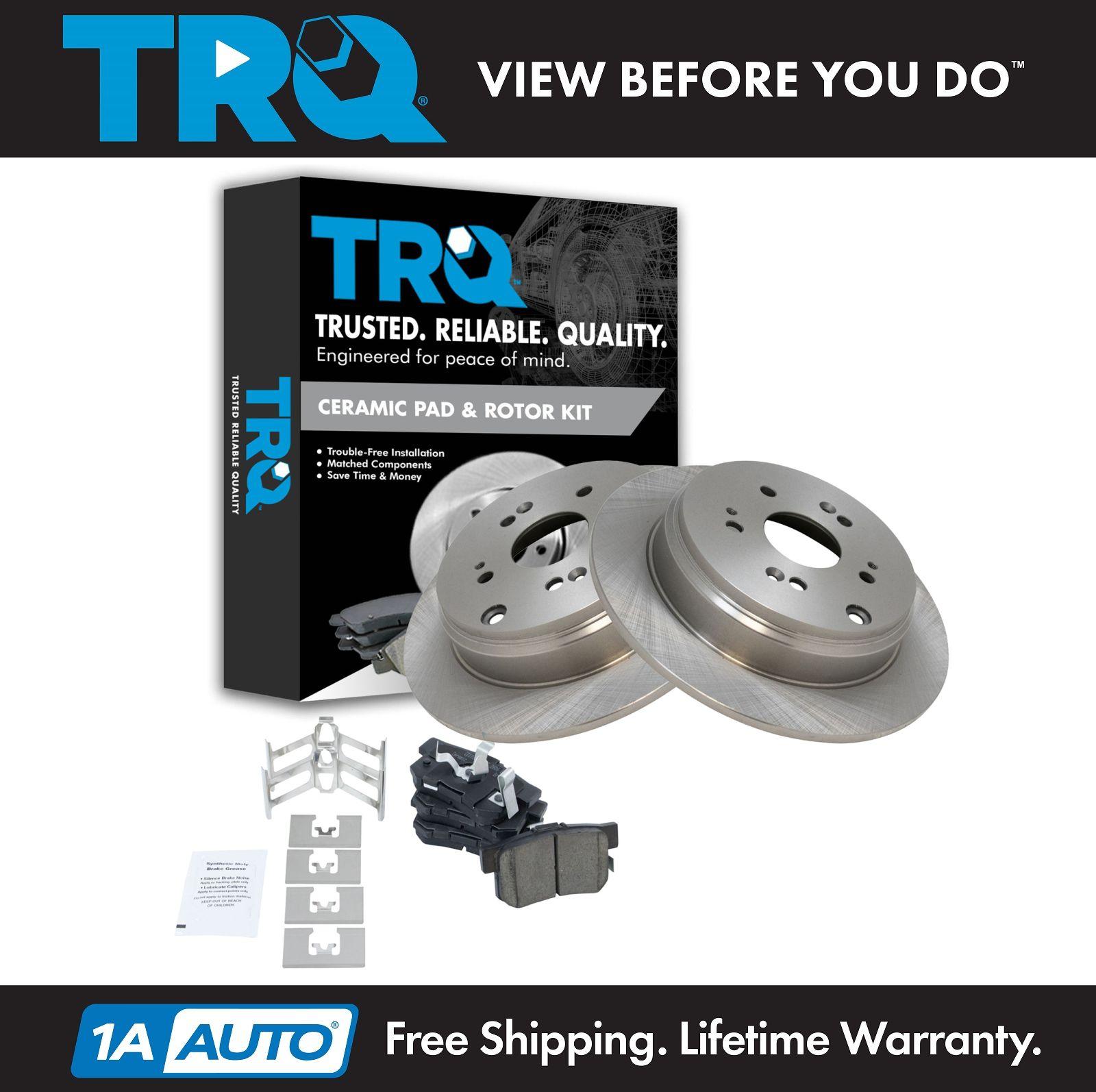 Rear Premium Ceramic Brake Pad & Rotor Kit For Acura RDX