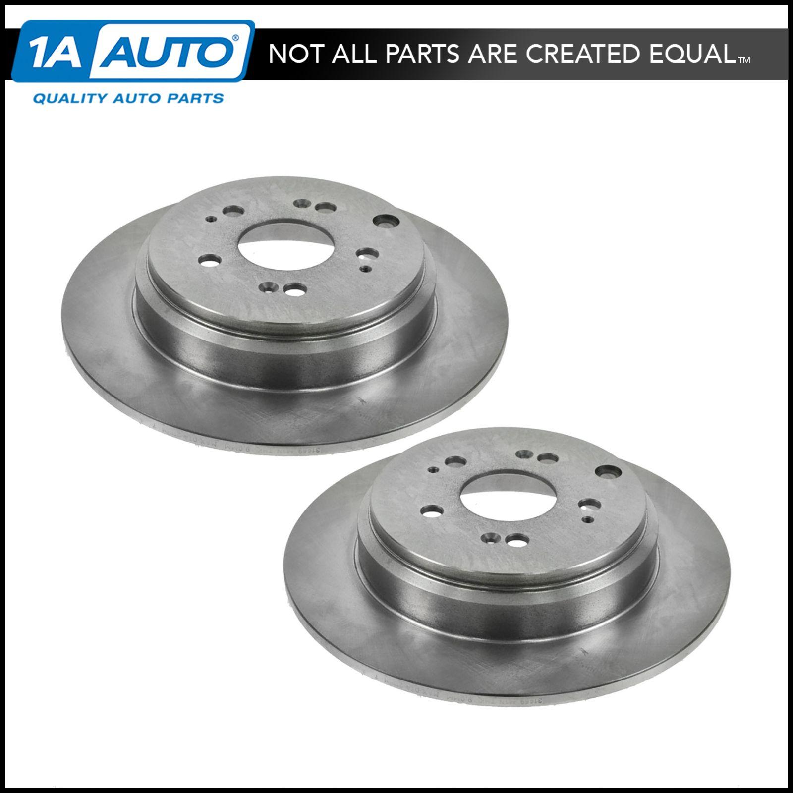 Rear Disc Brake Rotor & Pair For Acura MDX ZDX Honda