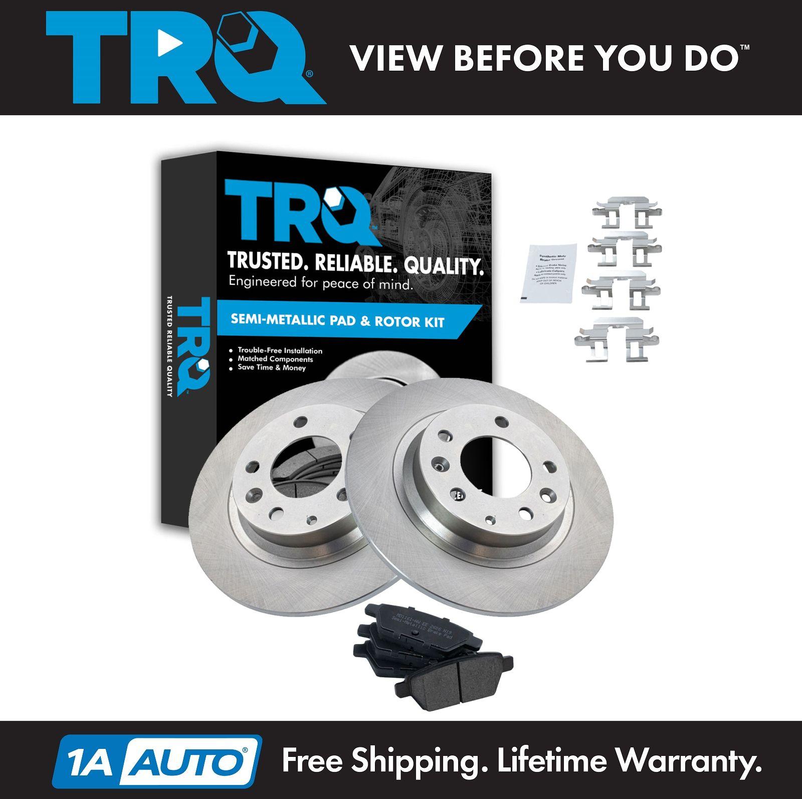 Nakamoto Rear Metallic Brake Pad /& 2 Rotor Discs Kit for Fusion Milan Mazda MKZ