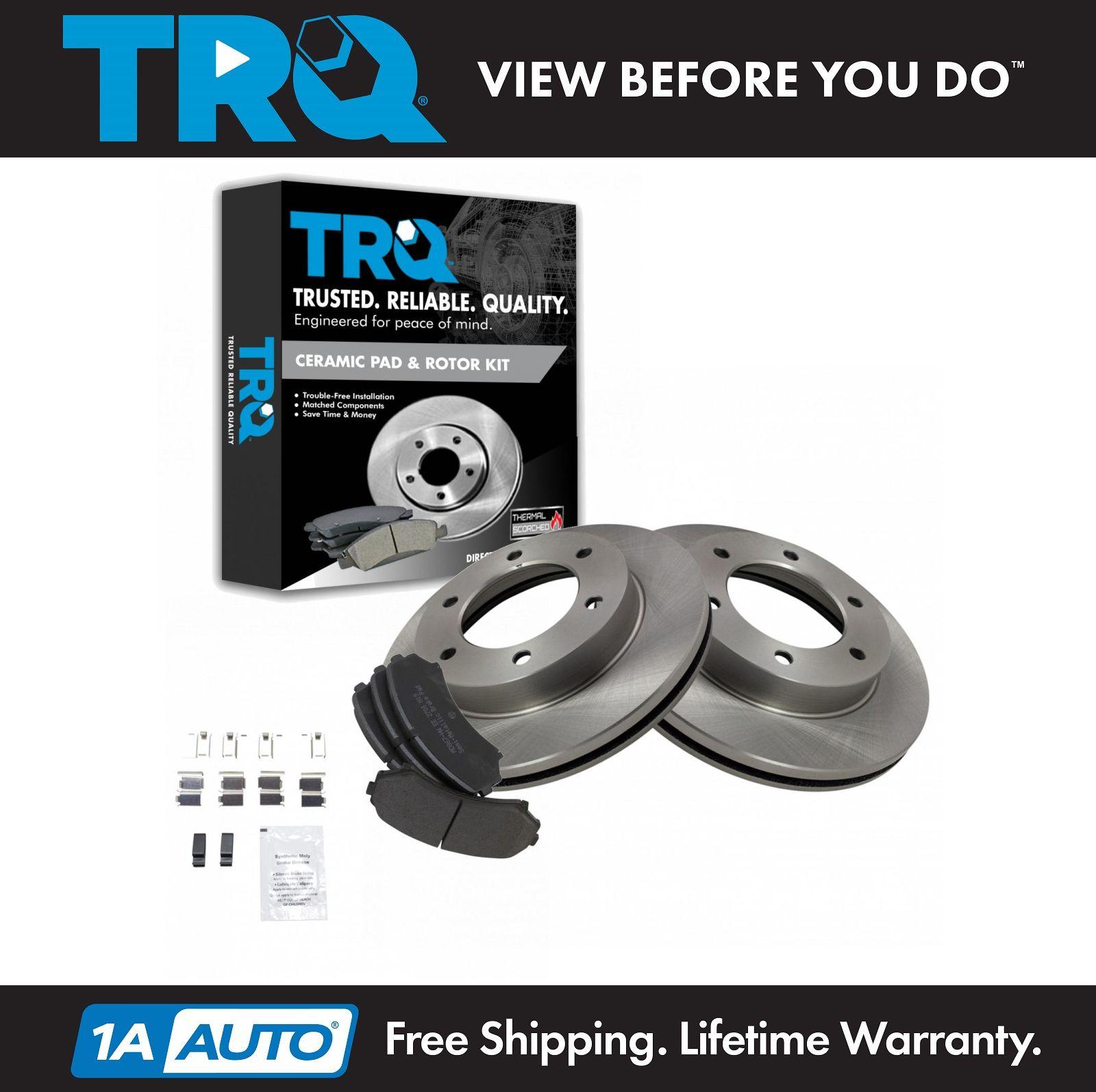 Disc Brake Rotor Rear Pair Set for Amigo Axiom Rodeo Sport Passport