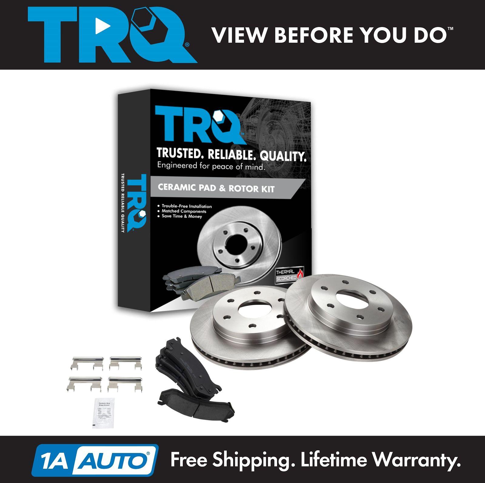 Wheel Hub /& Premium Posi Ceramic Brake Pad Rotor Front Kit for GM SUV Truck
