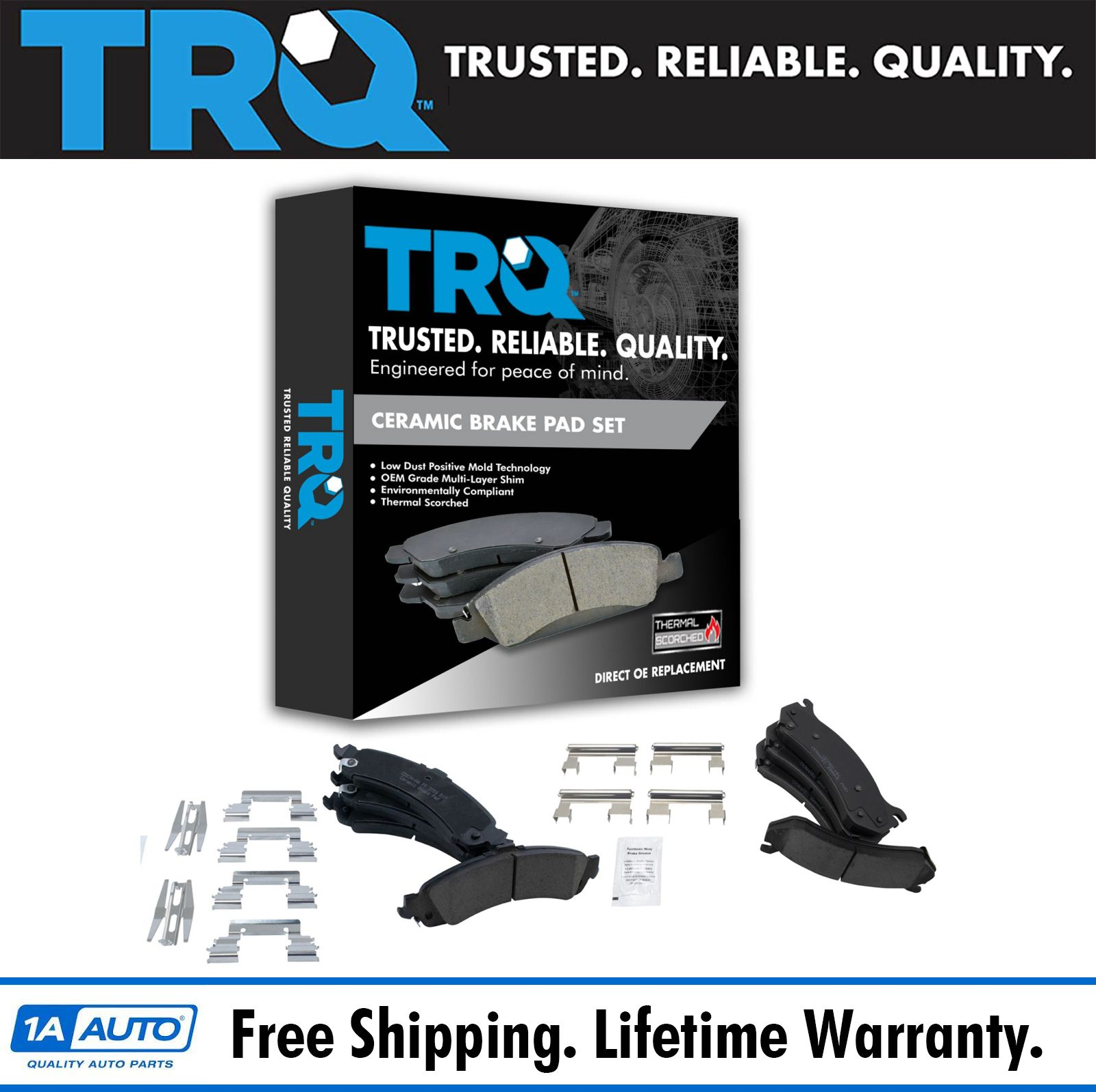 VTDC000082 Front and Rear Premium Quality Ceramic Brake Pads Kit