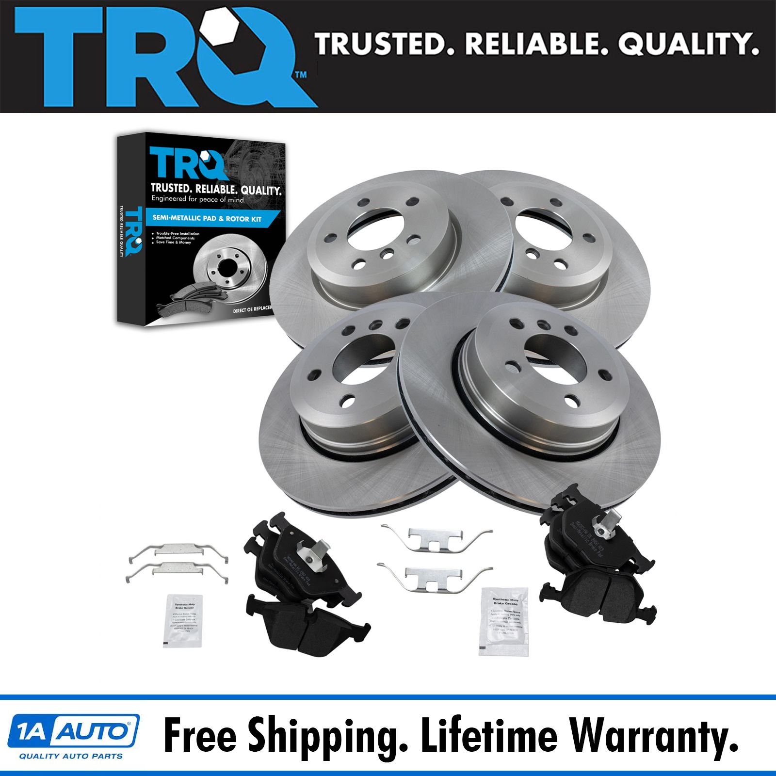 Both Left and Right 2007 For Mazda 3 Front Set Semi Metallic Brake Pads with 2 Years Manufacturer Warranty