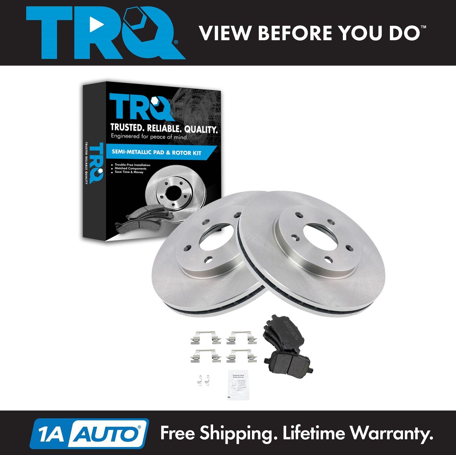 Front Premium OE Brake Rotors and Ceramic Pads PAIR SET 2006 2007 PONTIAC G6