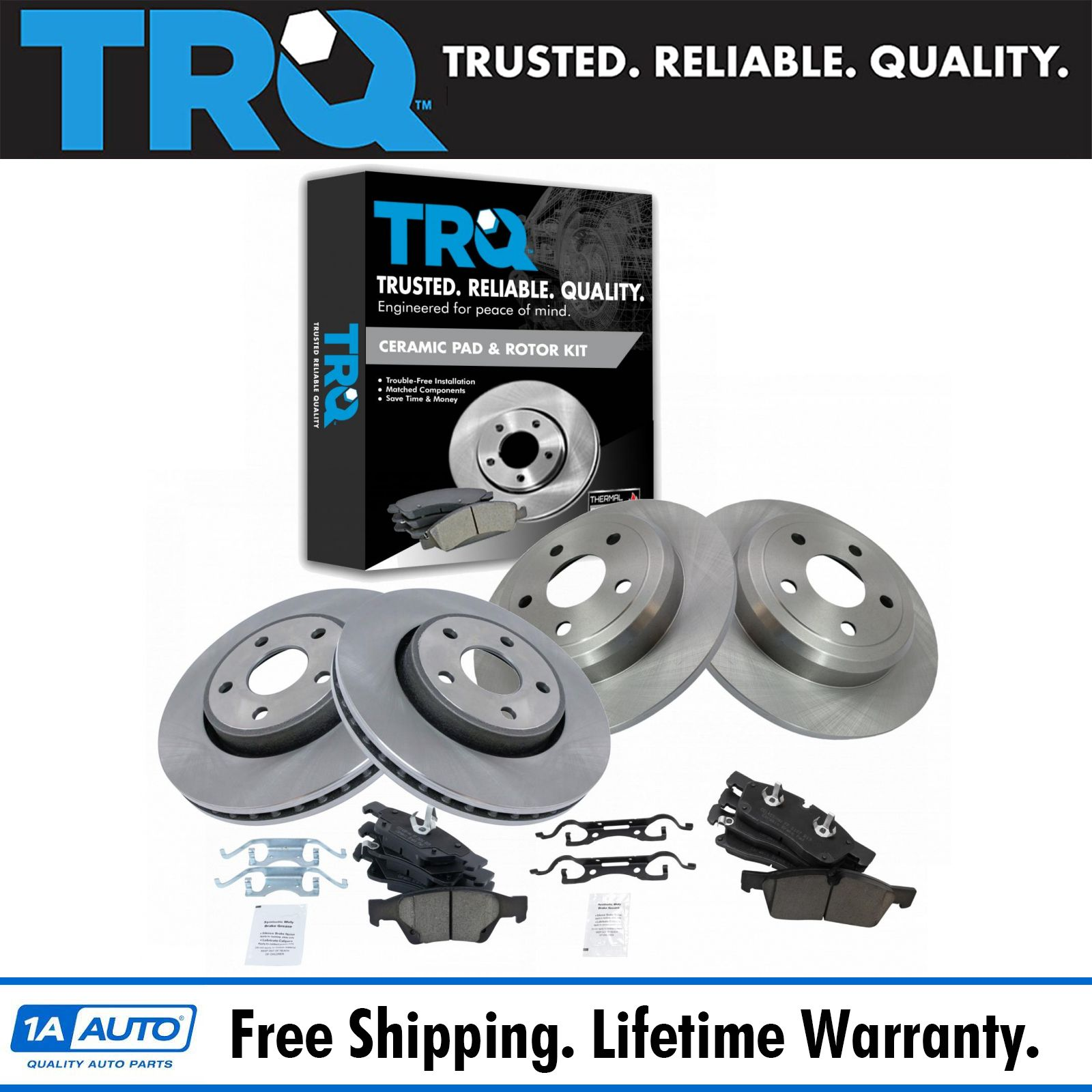 2011 2012 2013 for Dodge Durango Front /& Rear Brake Rotors and Pads w//HD Brakes