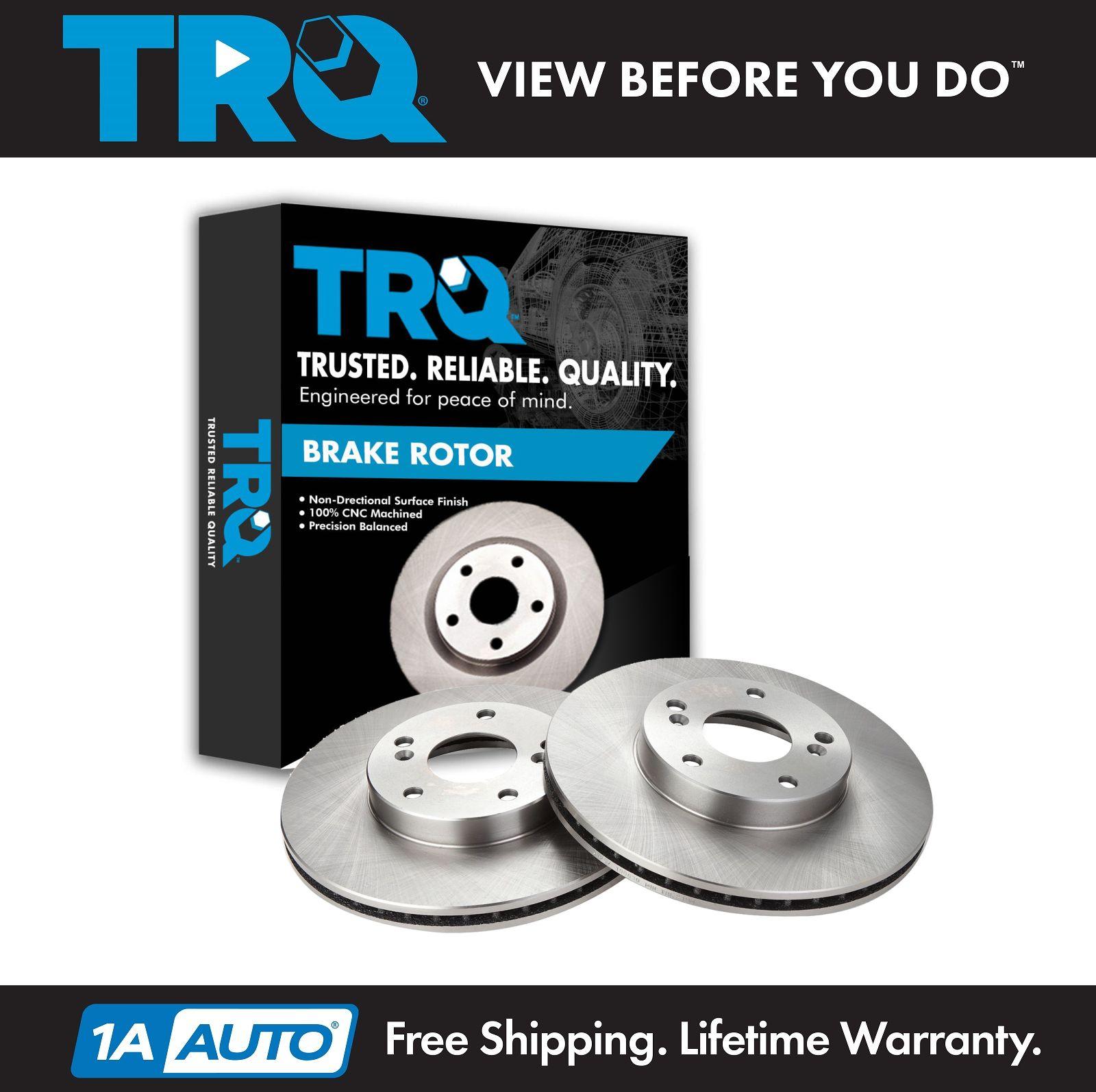 TRQ Front Brake Rotor LH & RH Set Kit Pair For Acura CSX
