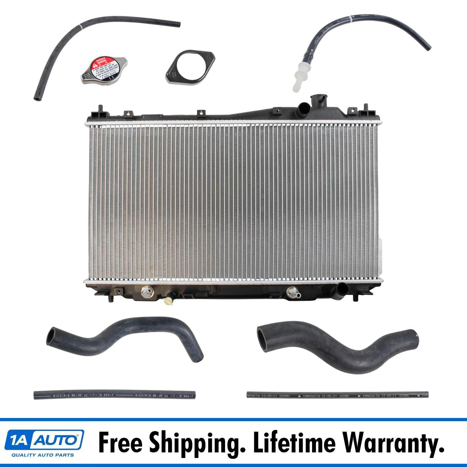 Radiator Assembly Upper Lower Hose Kit Set for 01-05 Honda Civic 1.7L New
