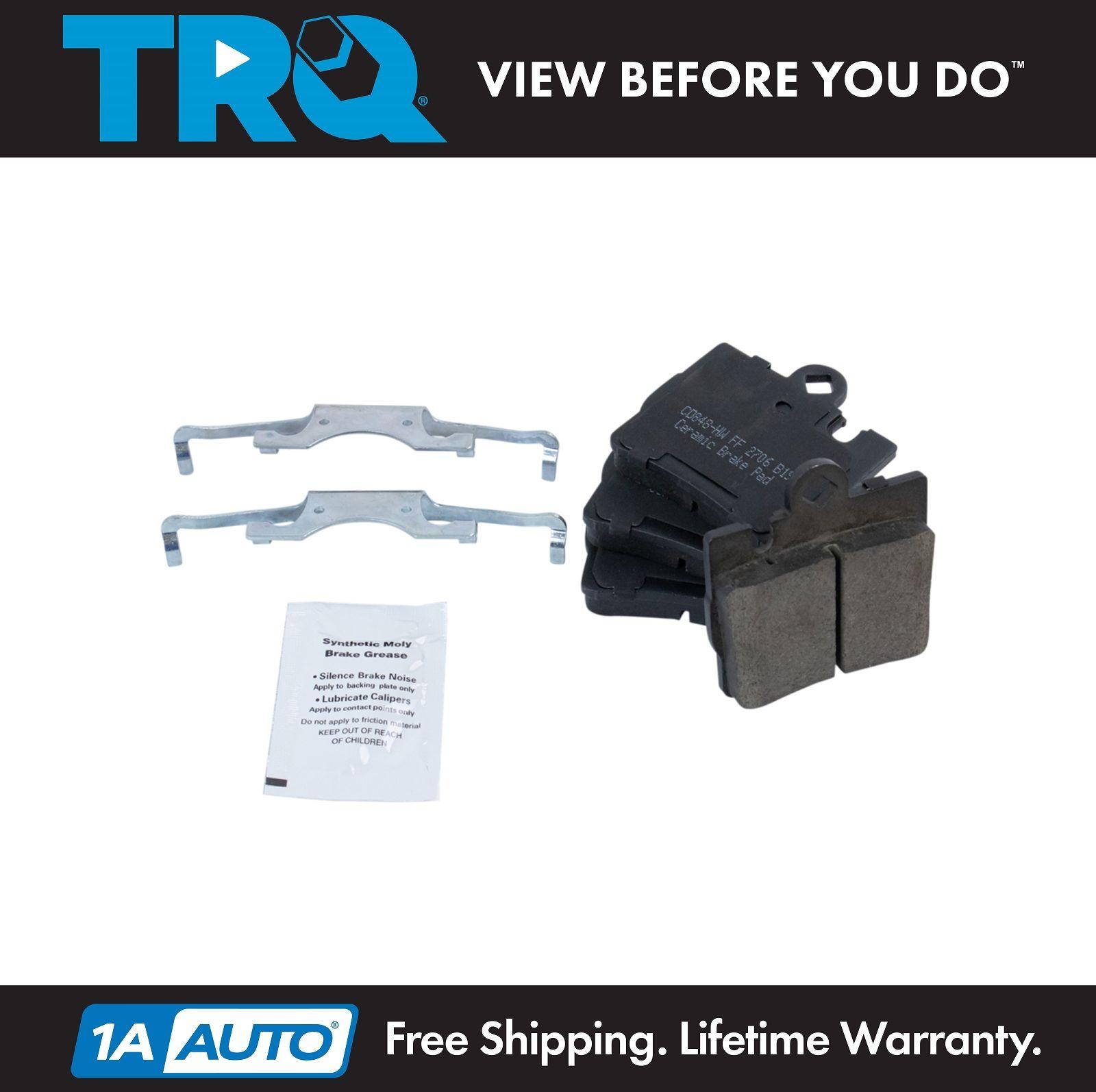 TRQ Front /& Rear Premium Posi Ceramic Disc Brake Pad Kit for Acura TL CL