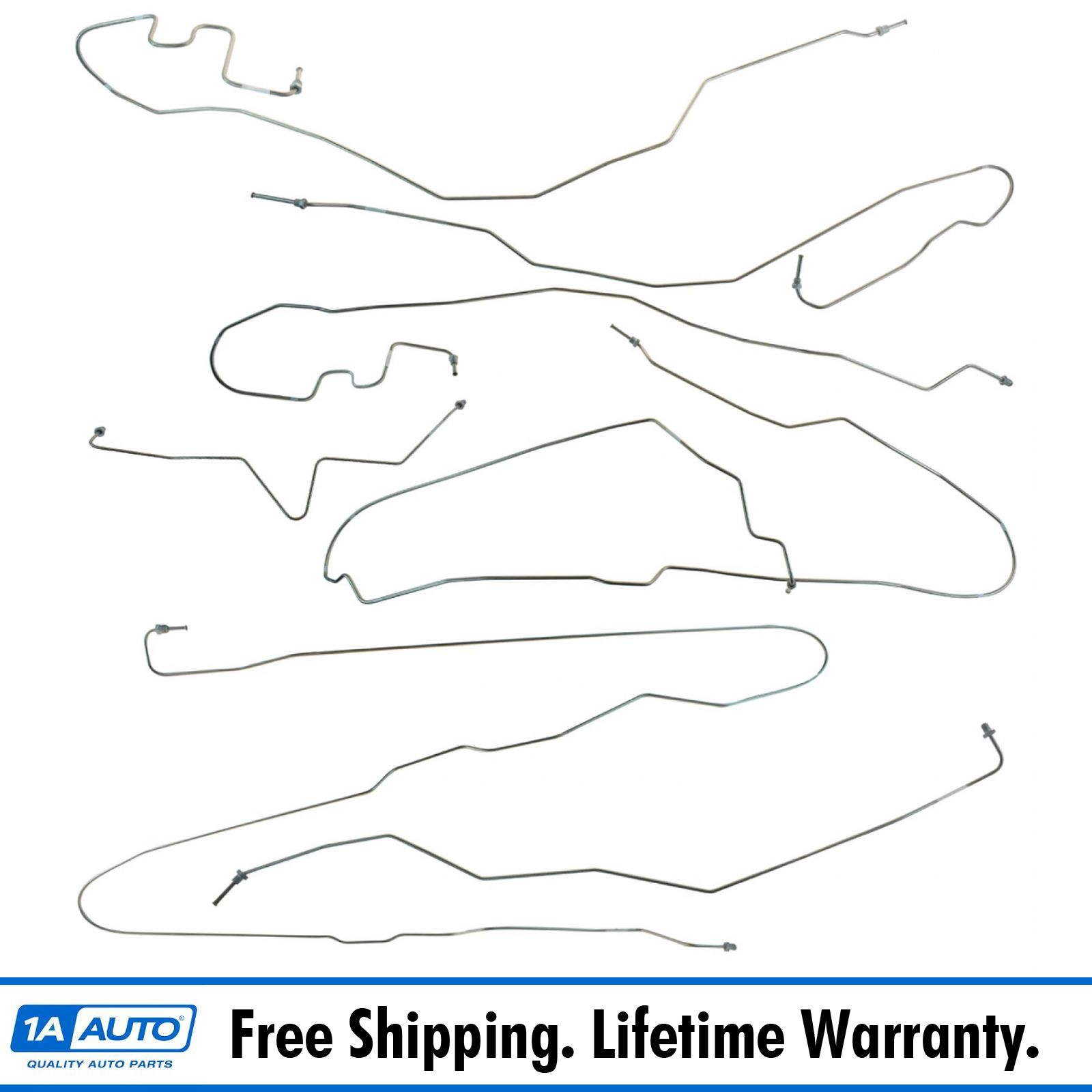 99-02 Silverado//Sierra 2wd Front Brake Line Kit; Stainless Steel