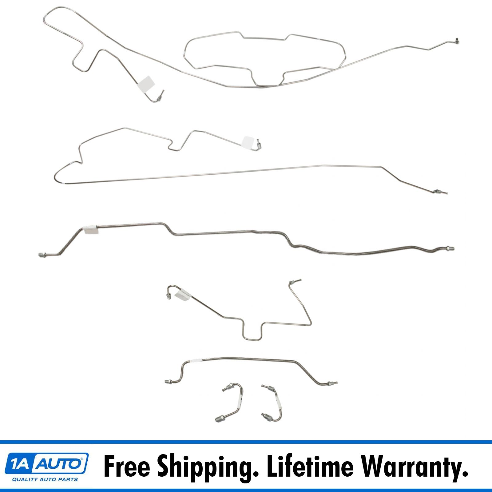 Fits 1995 Jeep Wrangler YJ With ABS Complete Power Brake Line Set Kit OE Steel