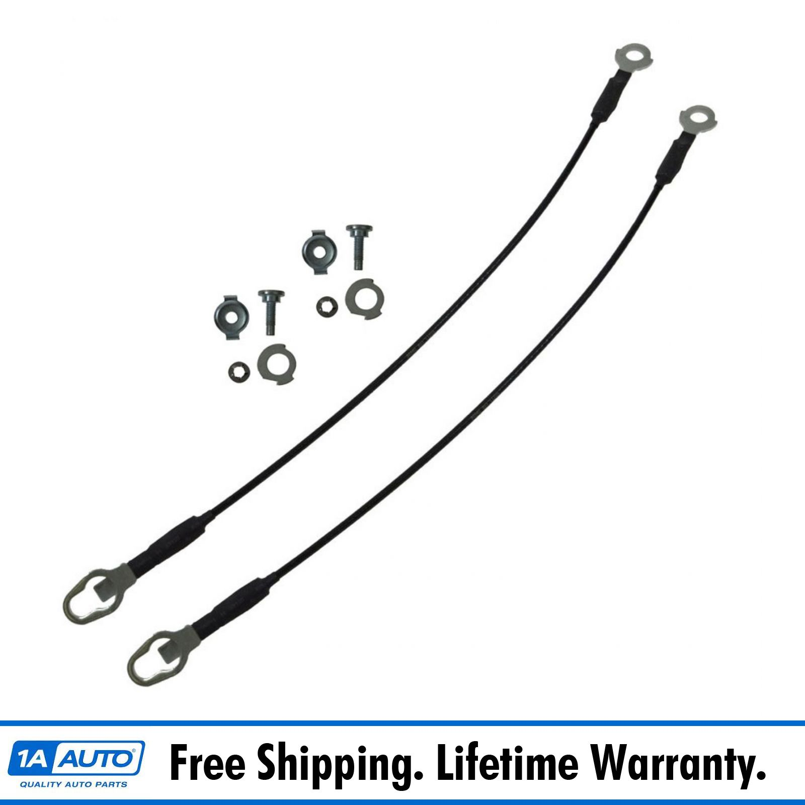 Dorman 38502 Tailgate Cable /& Mounting Hardware Pair Set for Ford F150 Mark LT