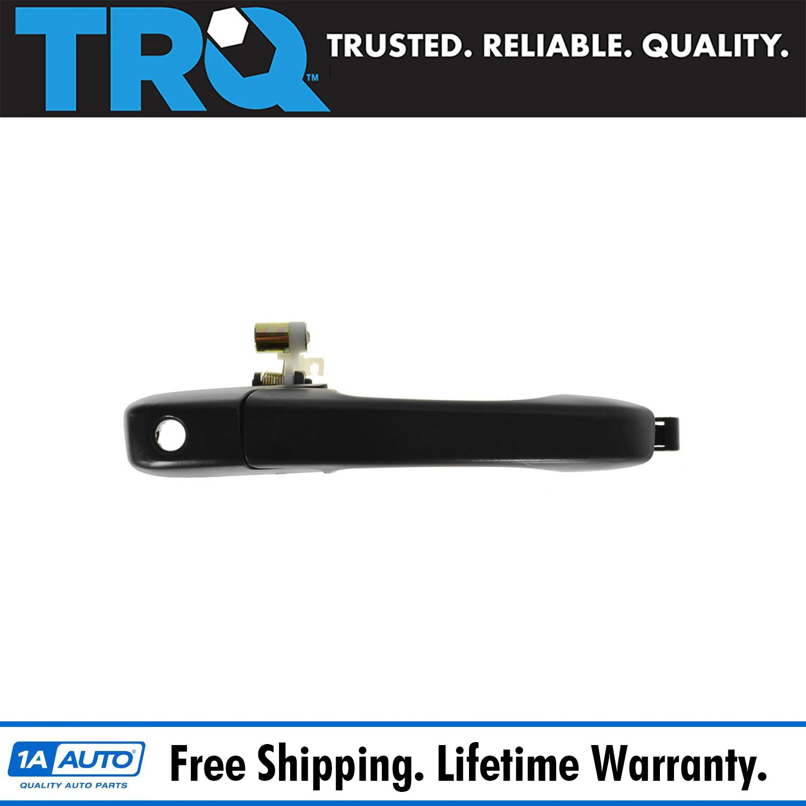 TRQ Front Outside Exterior Black Door Handle Pair LH RH for Kodiak Topkick