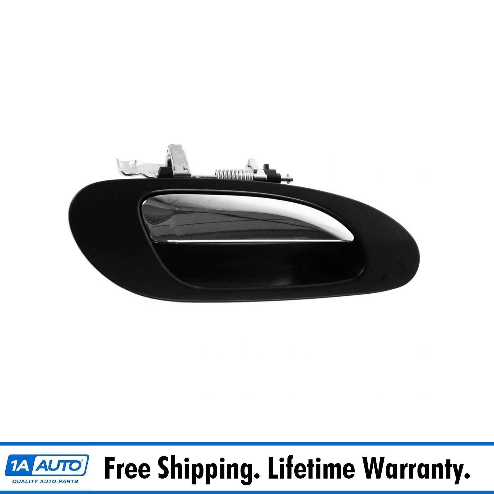 Door Handle Front Outer Smooth Black Driver Side Left LH for 04-08 Acura TL