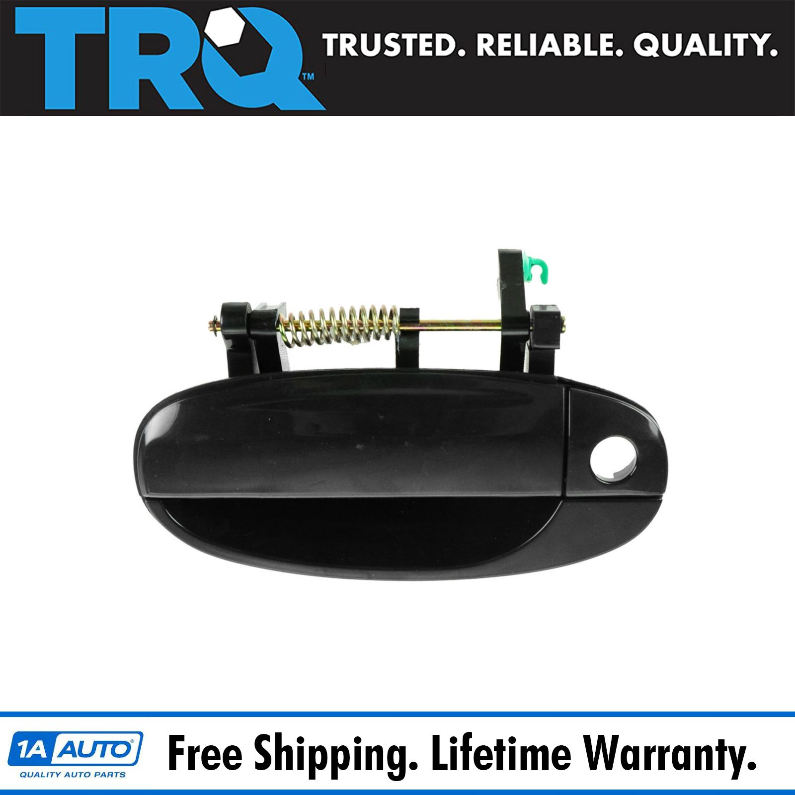 04-11 Aveo Outside Outer Exterior Black Front Door Handle Right Passenger Side R