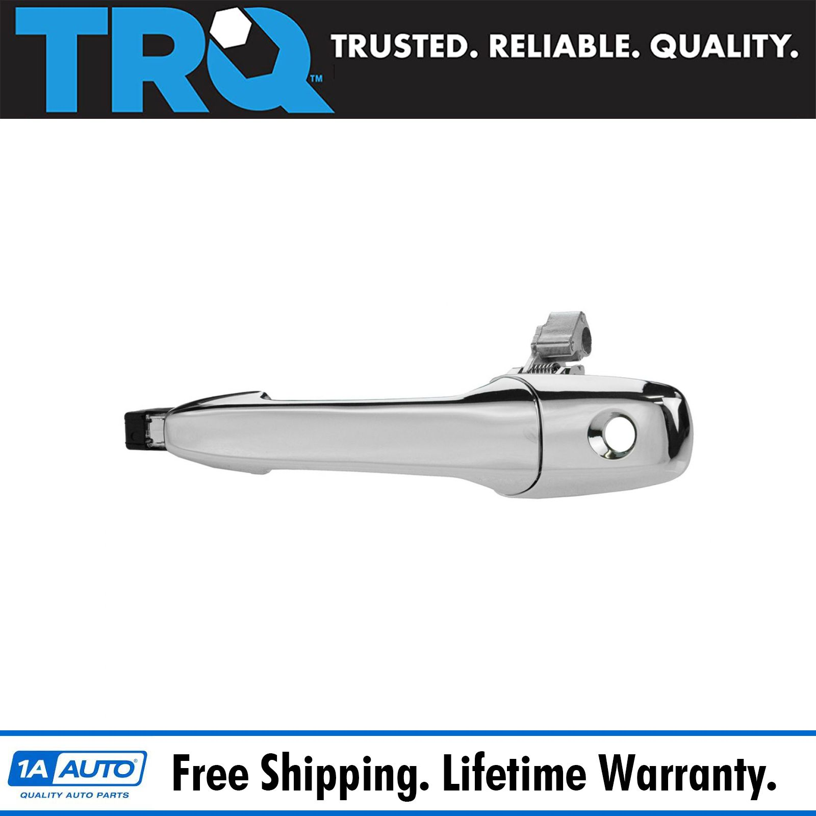 TRQ Door Handle Outside Smooth Black Front LH for Mazda 3 6 CX-7 CX-9 RX-8