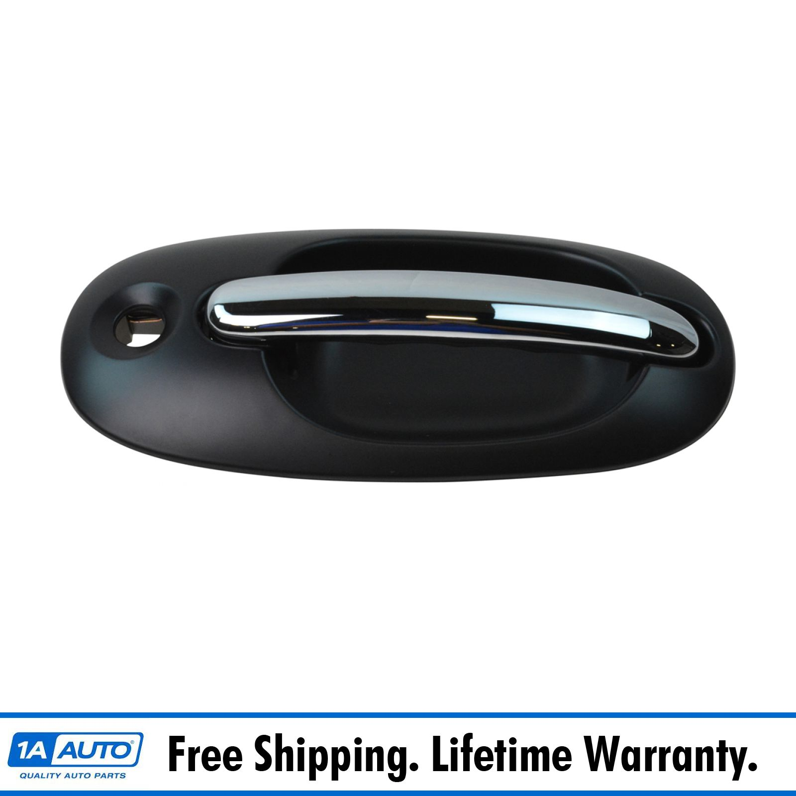 Rear Left//Right or Front Passenger Side Black Exterior Door Handle w//o Keyhole