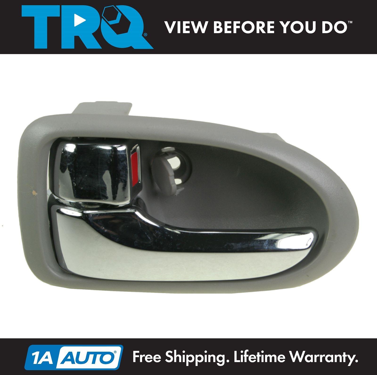 Front chrome gray interior inside door handle left - 2002 mazda protege door handle interior ...