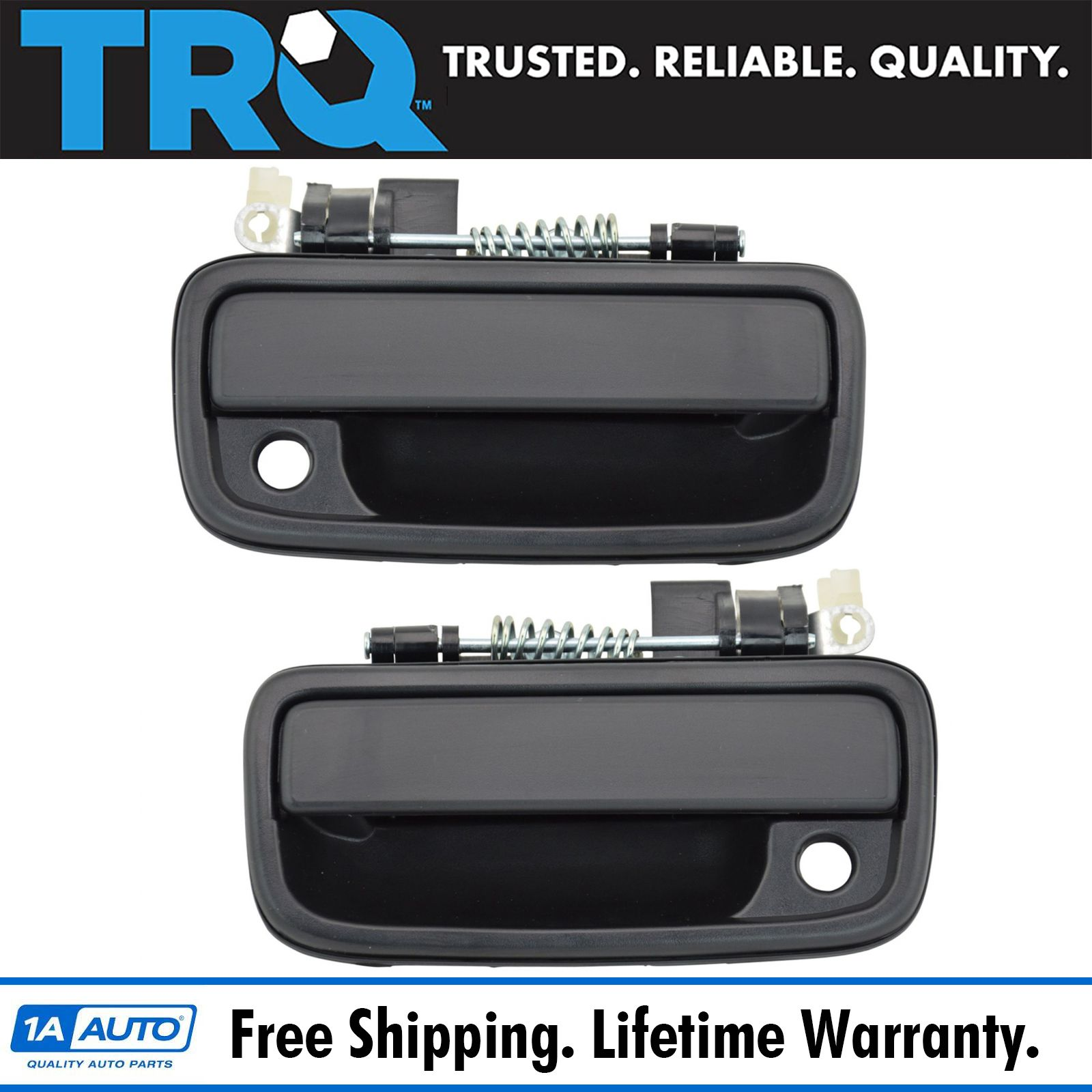 Trq Black Outer Exterior Door Handle Lh Rh Set For 95 04 Tacoma Pickup Truck Ebay