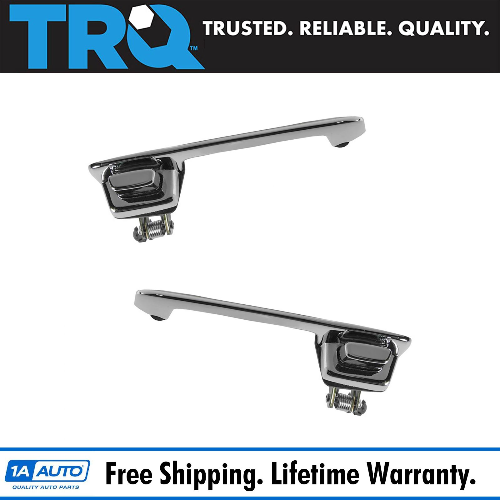 Chrome Exterior Outside Door Handle Pair Set For 78