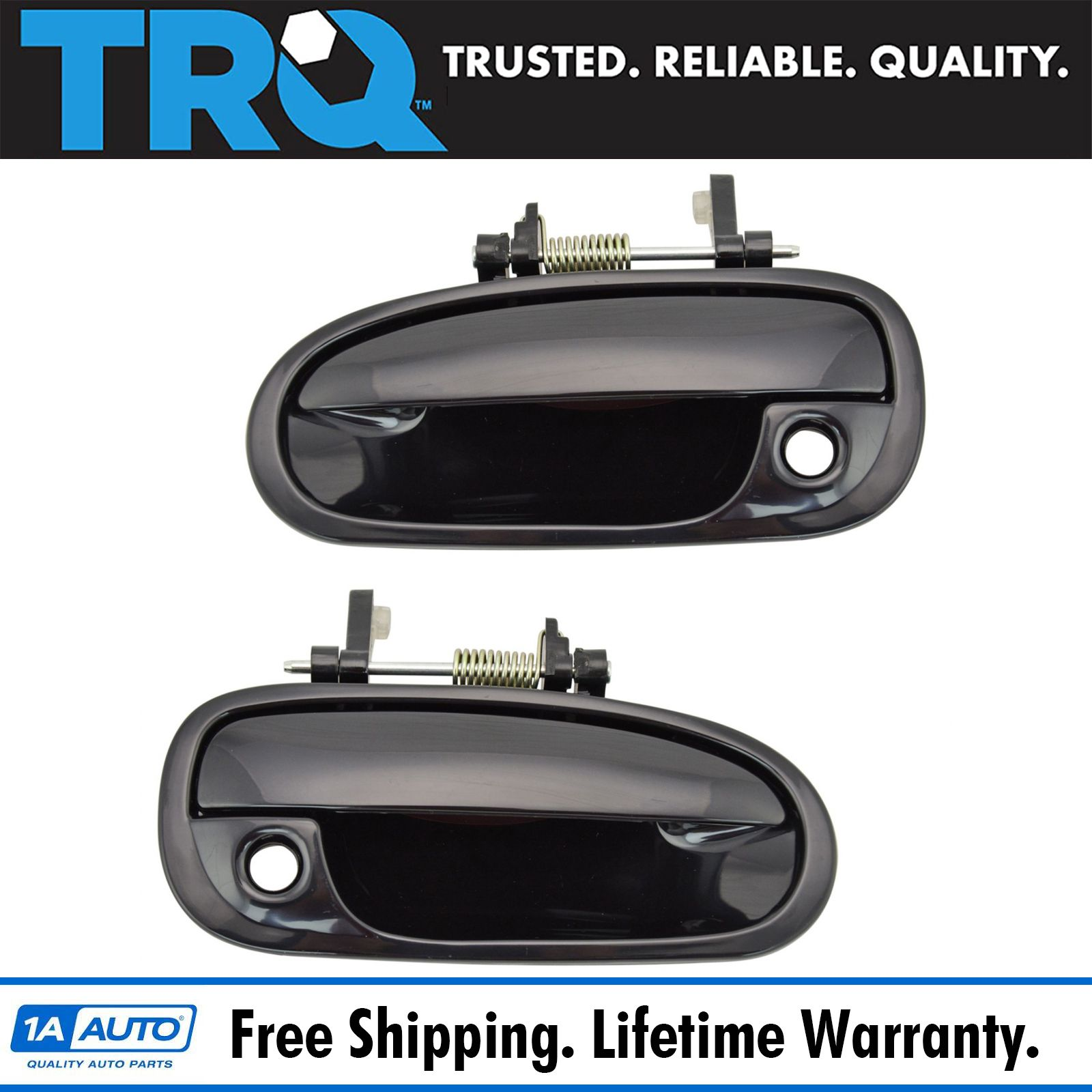 NEW Front Outside pair lh rh Door Handle Black Fits 88-94 Chevrolet GMC Truck