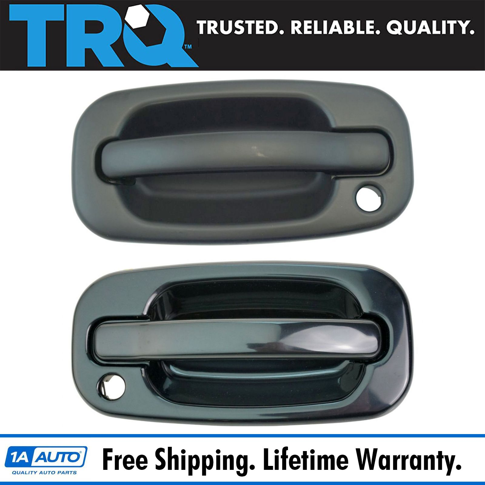 Rear Black Textured Exterior Door Handle LH RH Pair Kit for GM Pickup Truck New