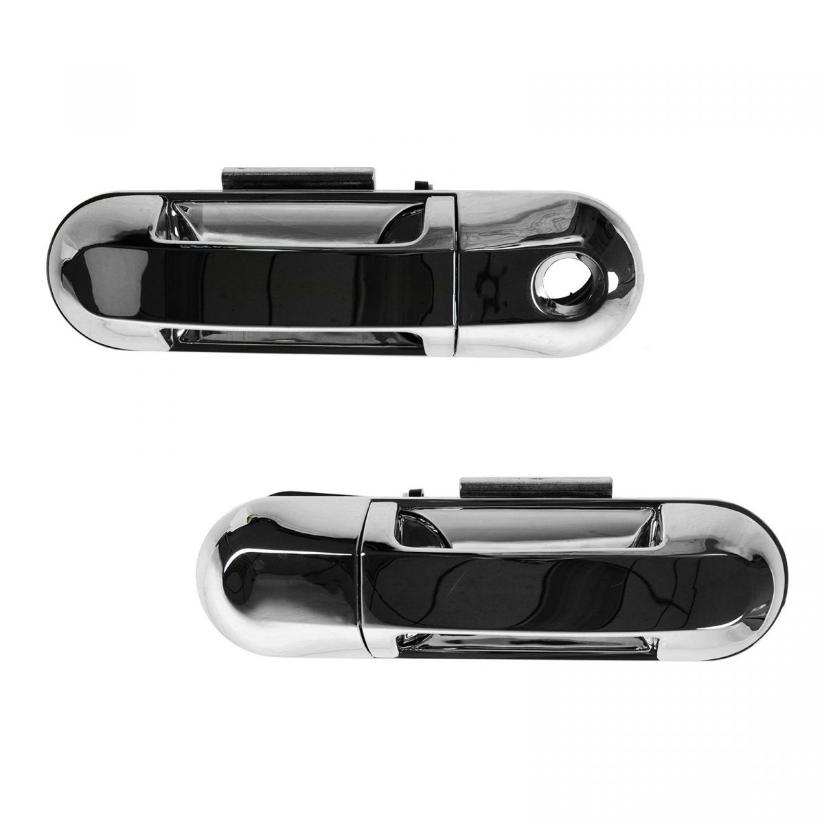 Door Handle Rear Outer Outside Black Smooth Pair Set for Explorer Mountaineer