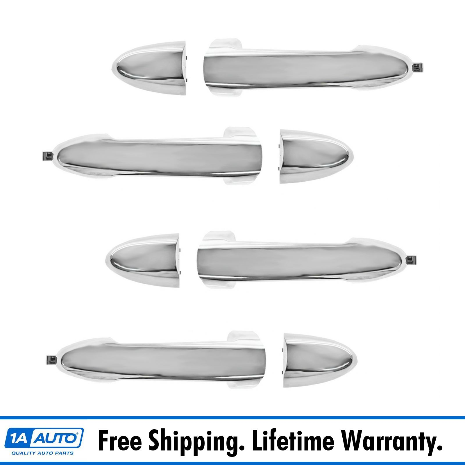 Door Handle All Chrome Outer Outside Kit Set of 4 for Escape Mariner Hybrid NEW