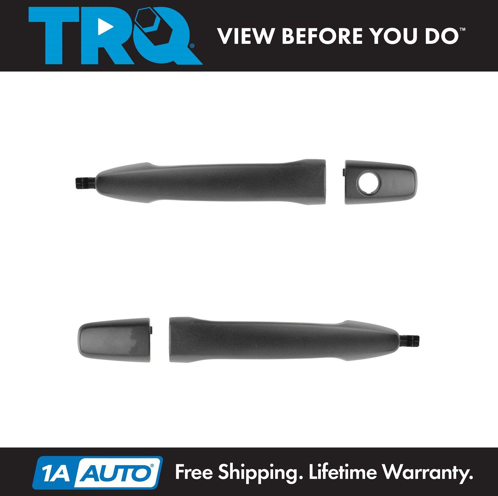 Door Handles Outside Smooth Black Front /& Rear Kit Set of 4 for Lancer Evolution