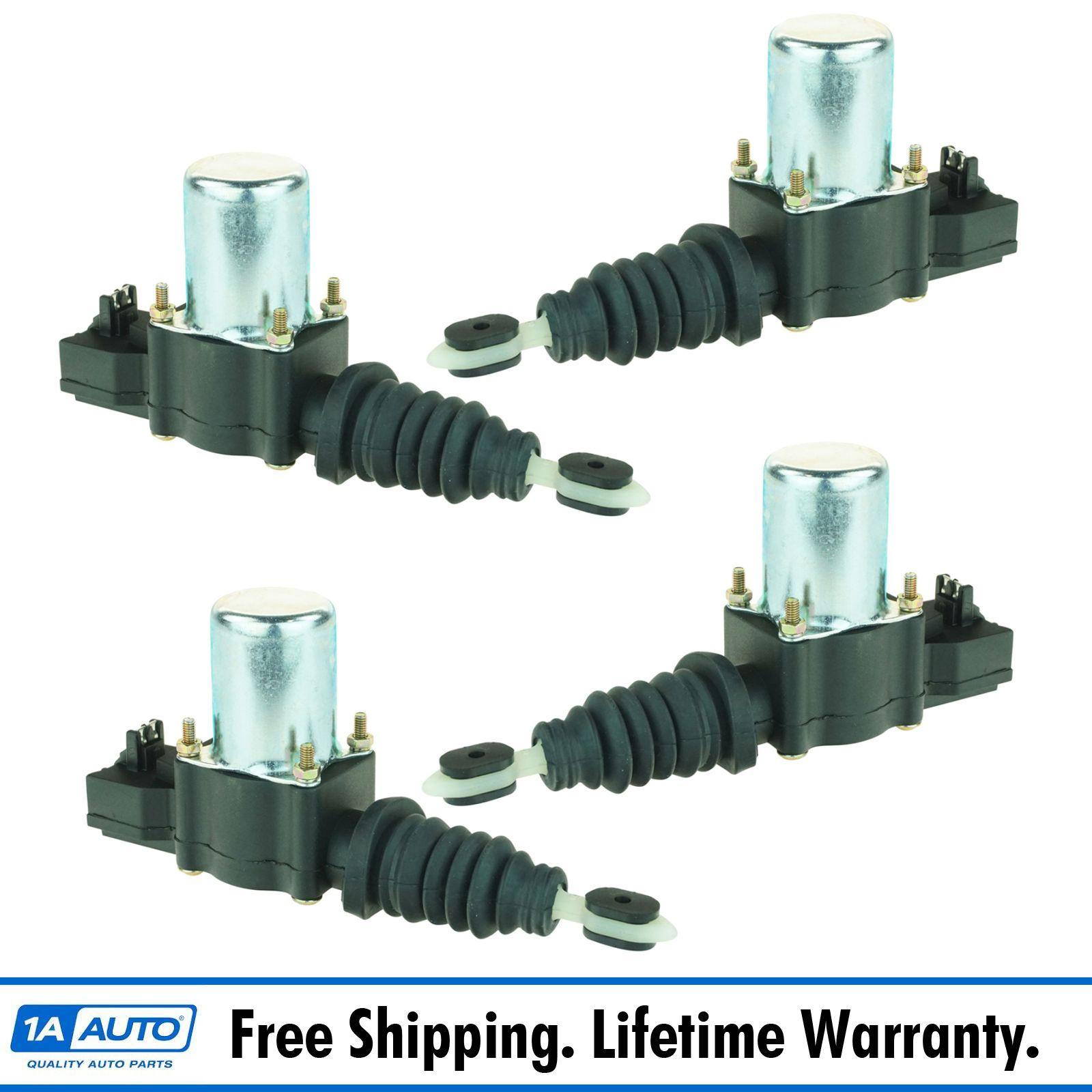 Power Door Lock Actuator Solenoid Set Of 4 Kit For Pontiac