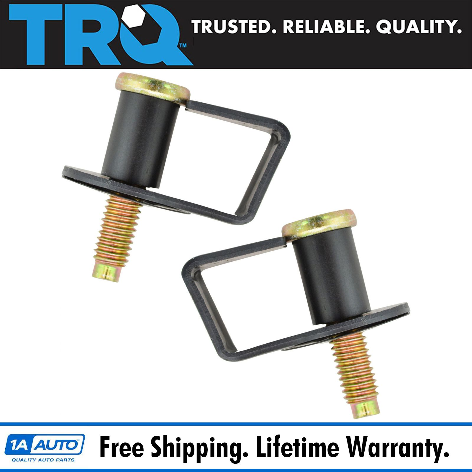 1A  Door Latch Striker Bolts Pair Set of 2 NEW for Ford Lincoln Mercury