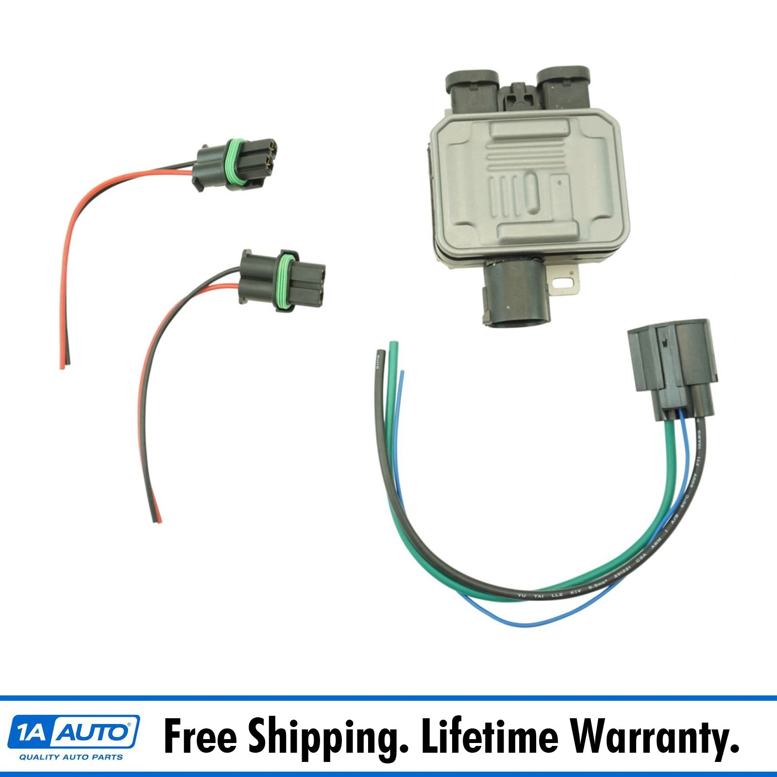 Engine Cooling Fan Control Module Relay W   Plug  U0026 Harness For Ford Lincoln New