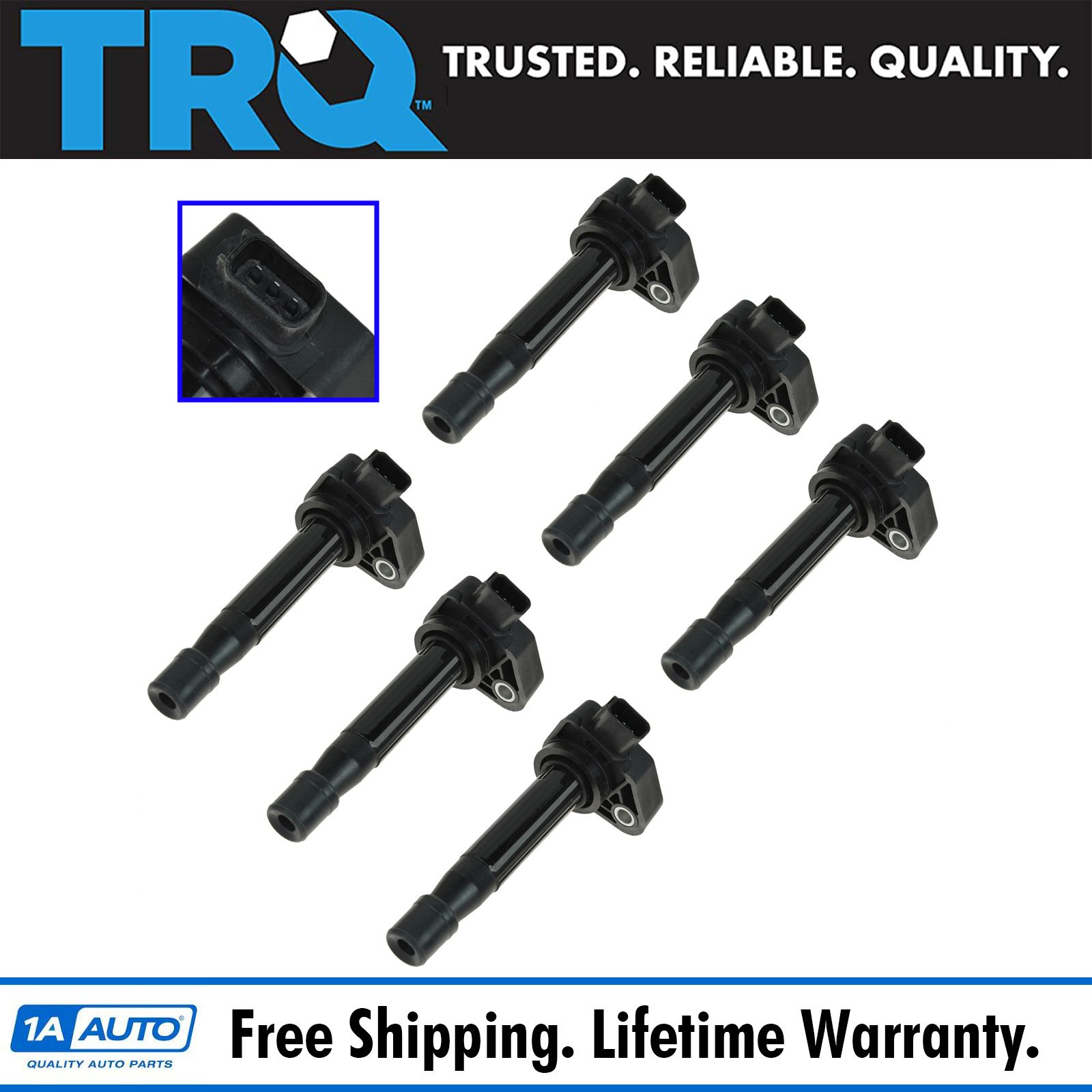 TRQ Ignition Coil Kit Set Of 6 For Honda Accord Odyssey