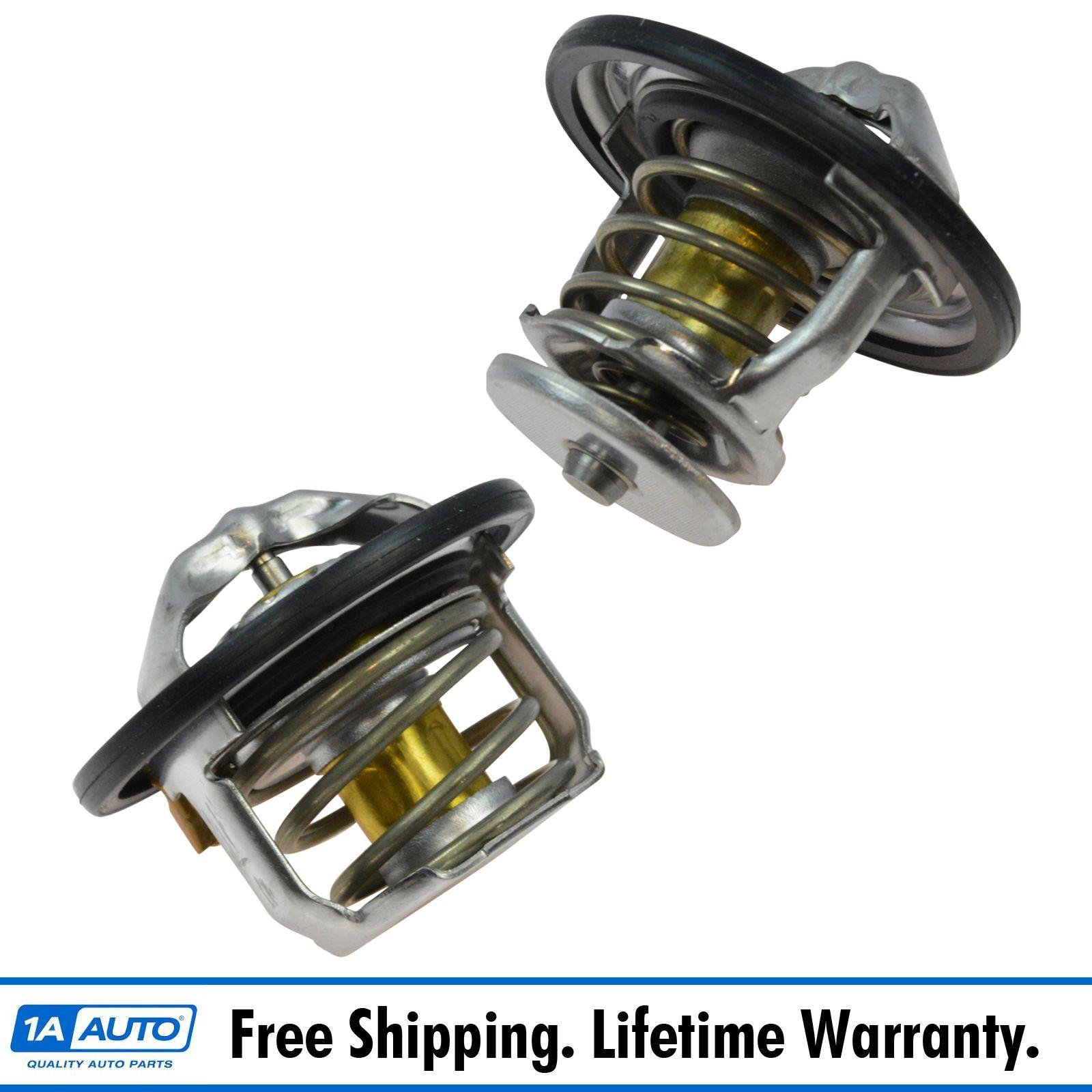 195 Degree Thermostat 2 1//8 Diameter Aluminum Multifit for AMC Chrysler GM