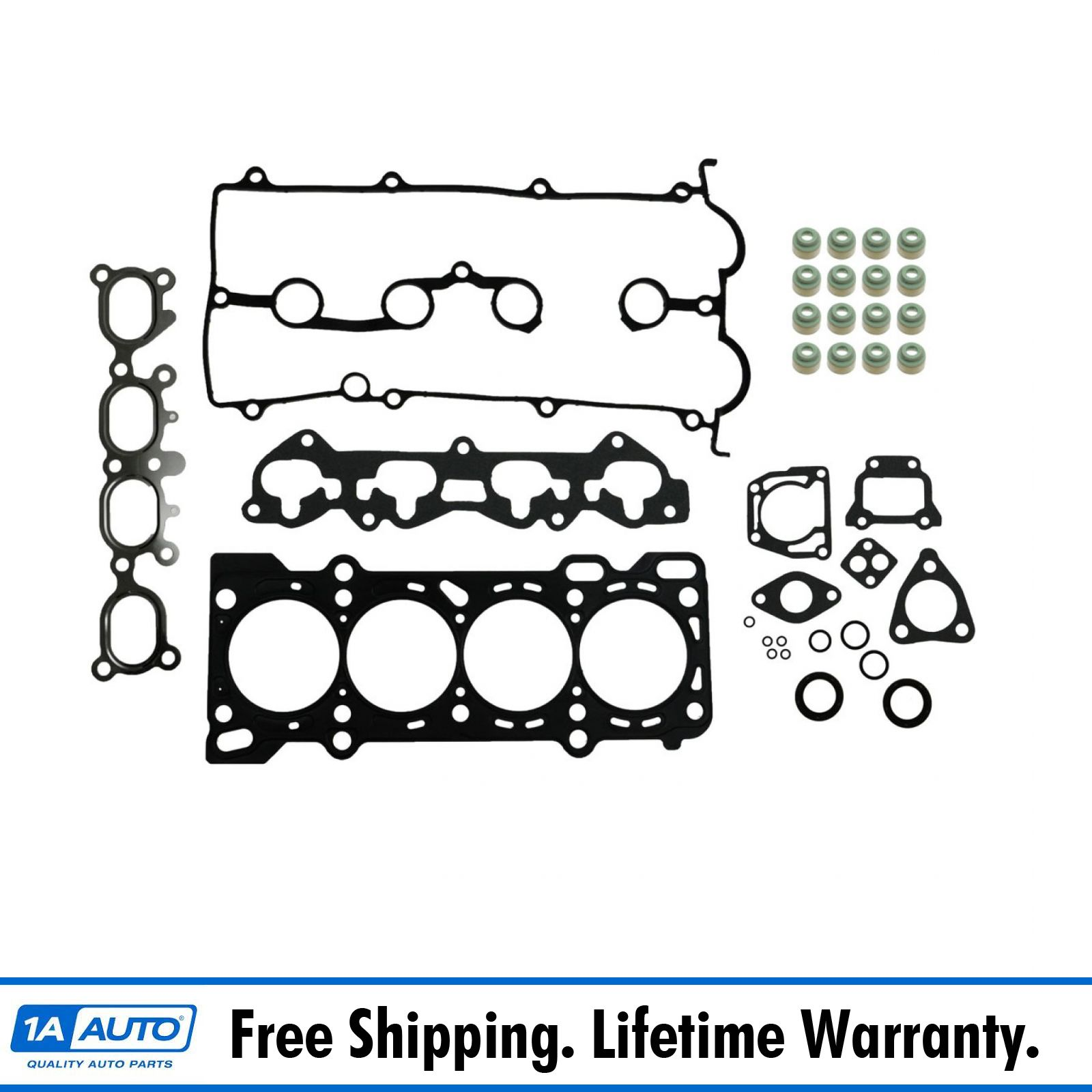 Engine Head Intake Exhaust Manifold Gasket Set Kit for Tracker Sidekick 1.6L 8V