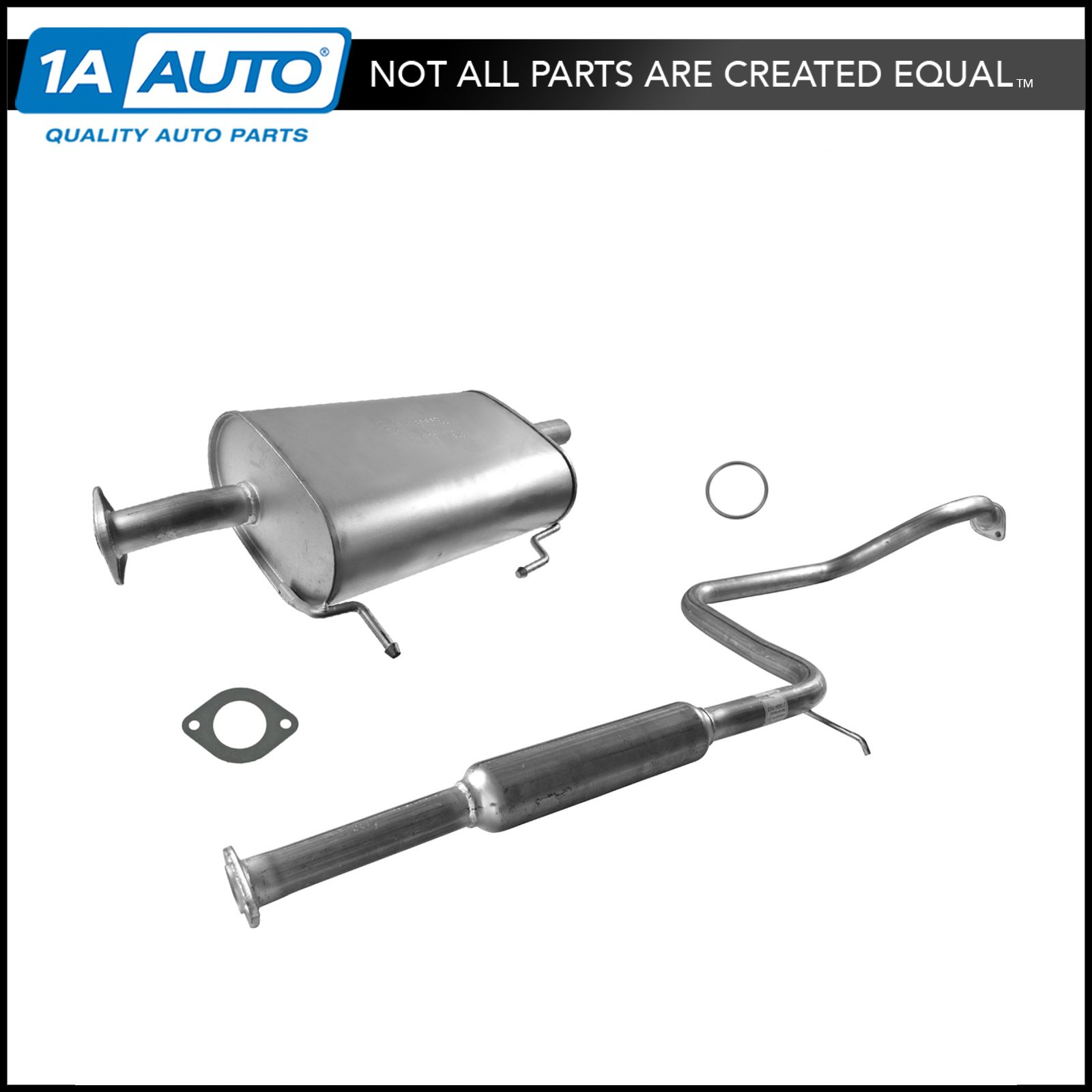 Complete Cat Back Exhaust System NEW for 00-04 Subaru Legacy Sedan H4 2.5L
