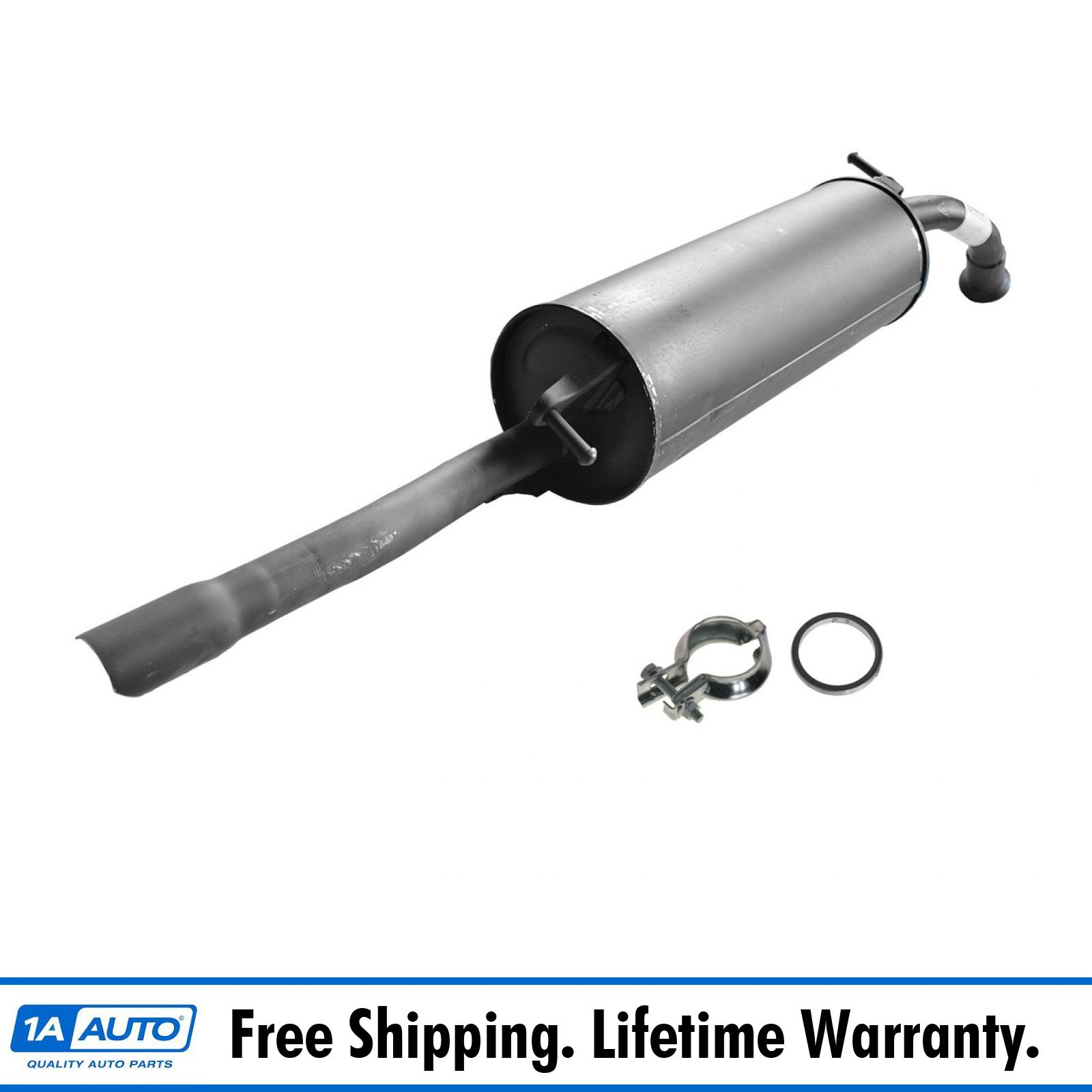 Rear Exhaust Pipe Muffler Section With Gasket for 97-99 Toyota Camry L4 2.2L