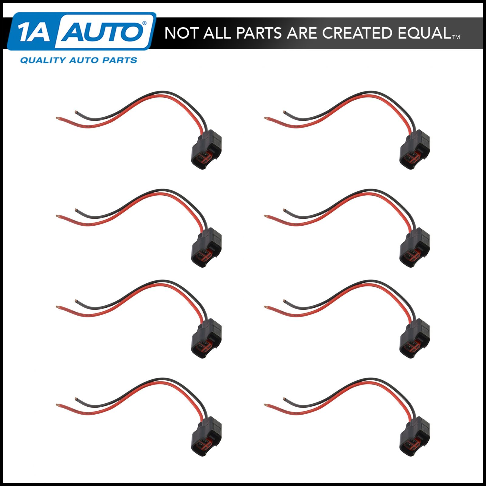 Fuel Injector Pigtail Harness Kit Set of 8 for Chevy GMC Cadillac Ford Dodge EV6