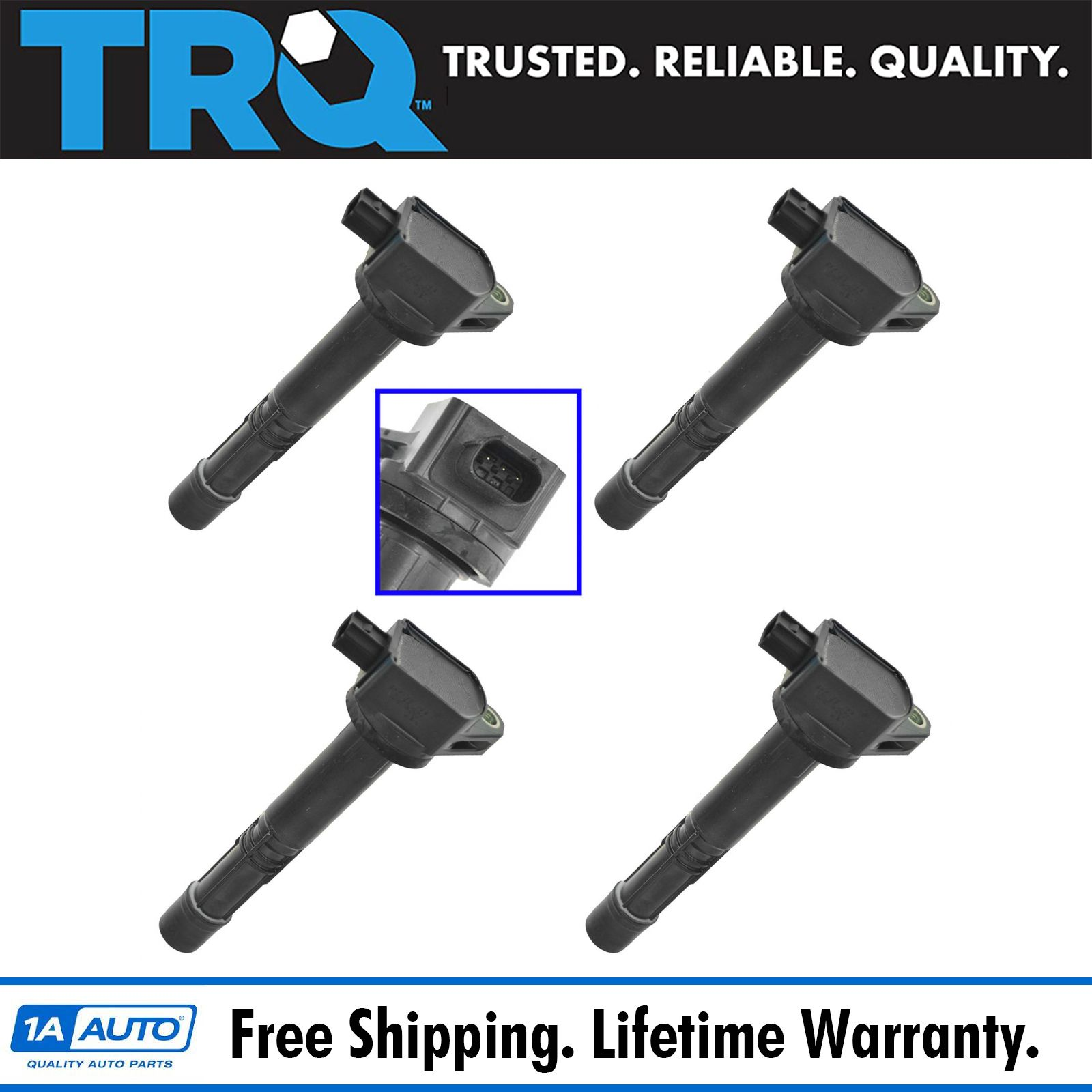 TRQ Ignition Coil Pack Set Of 4 For Honda ILX Civic